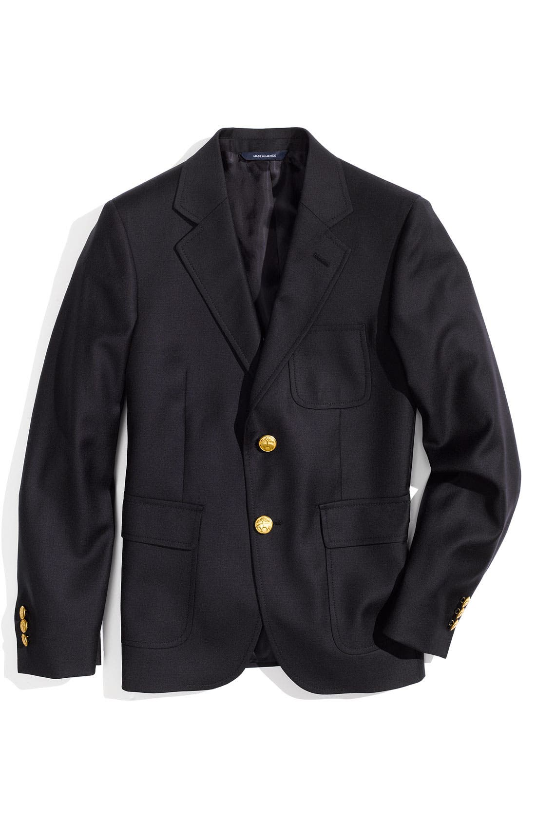 Main Image - Brooks Brothers Wool Blazer (Big Boys)