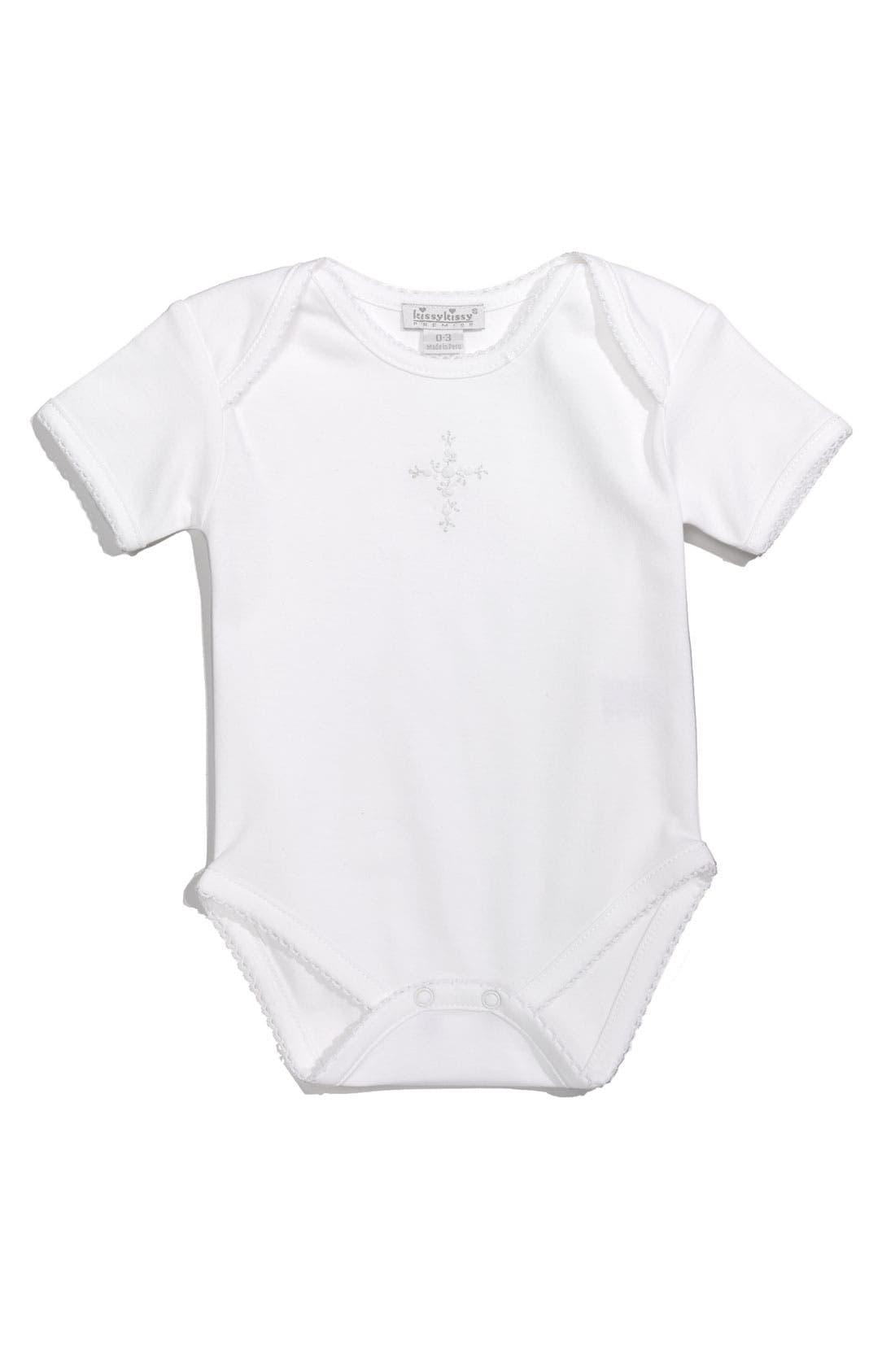 Alternate Image 1 Selected - Kissy Kissy Embroidered Bodysuit (Infant)