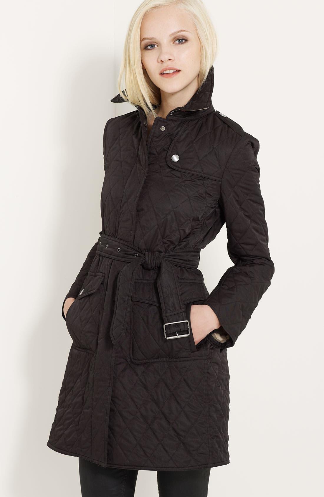 Alternate Image 1 Selected - Burberry Brit 'Trillbridge' Quilted Coat