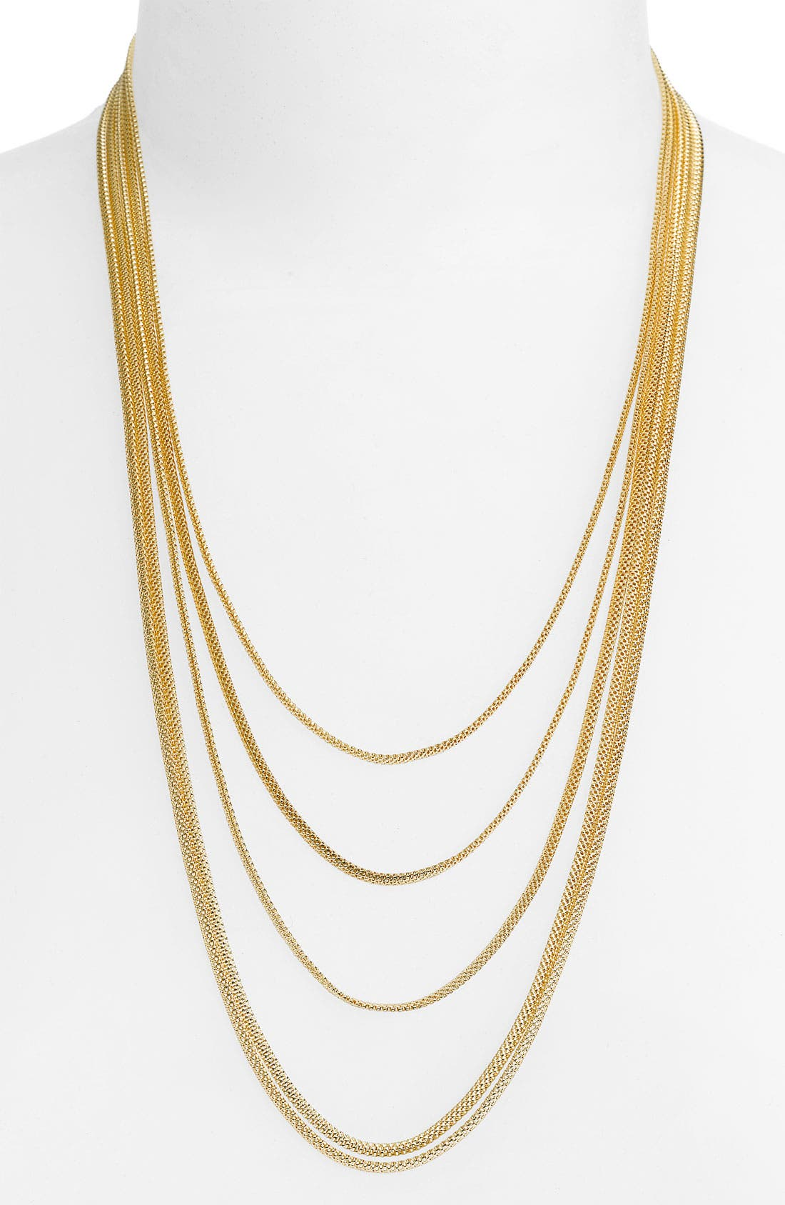 Alternate Image 1 Selected - Roberto Coin Yellow Gold Fluid Necklace