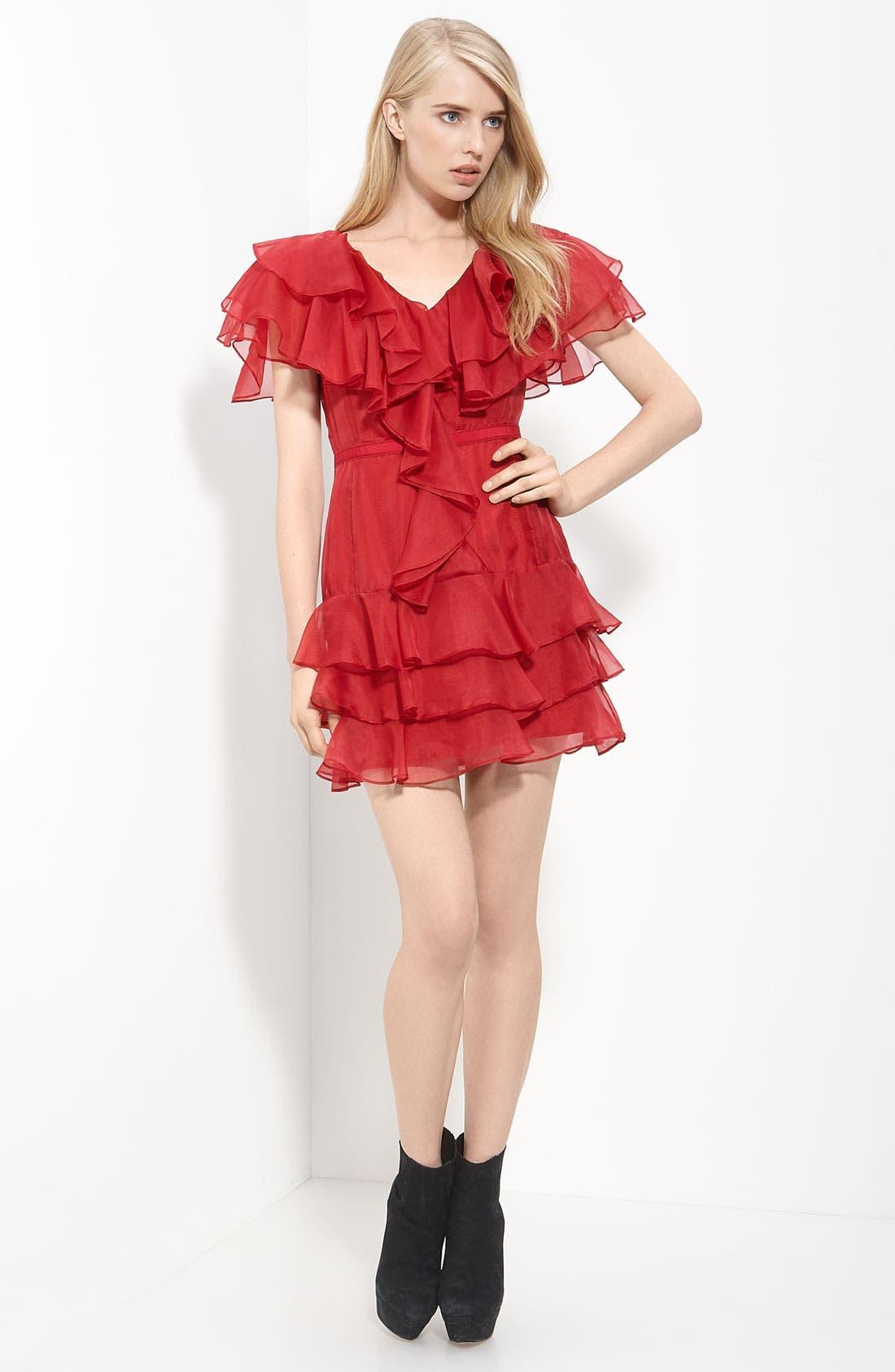 Alternate Image 1 Selected - Rachel Zoe Tiered Organza Dress