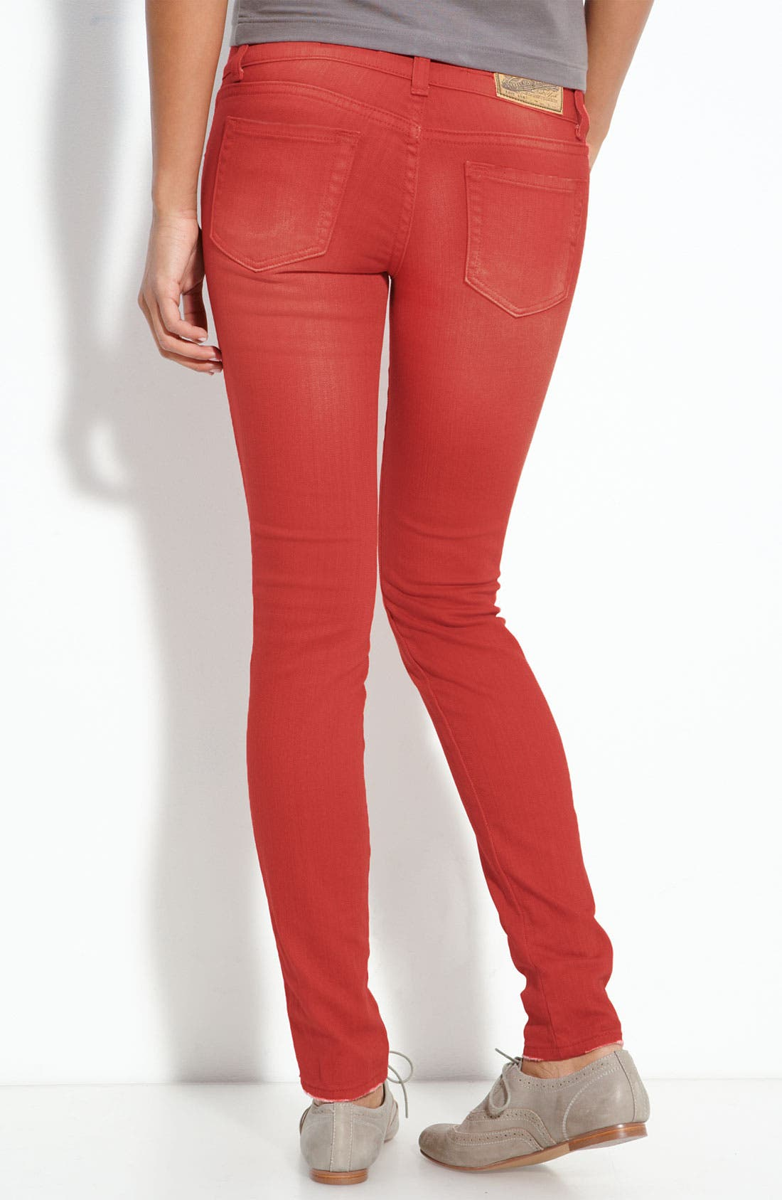 Main Image - Vigoss Color Skinny Jeans (Juniors)