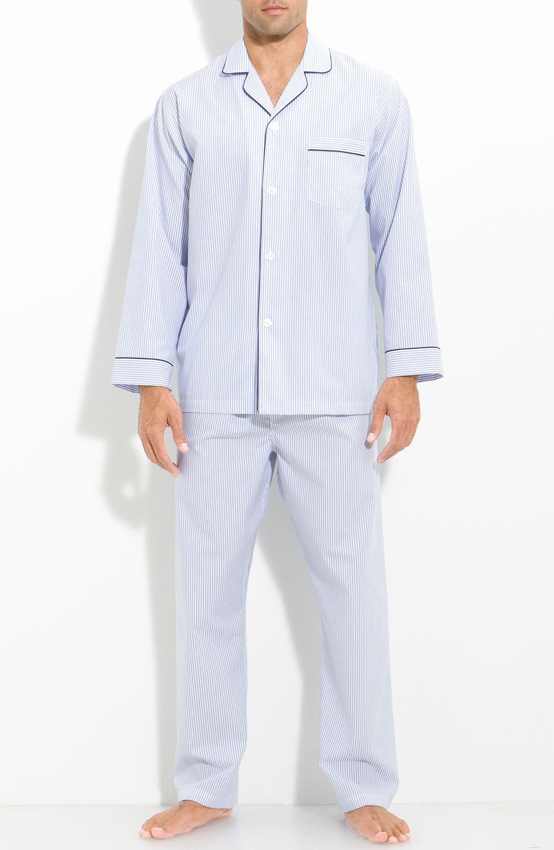 Alternate Image 1 Selected - Brooks Brothers Cotton Pajamas