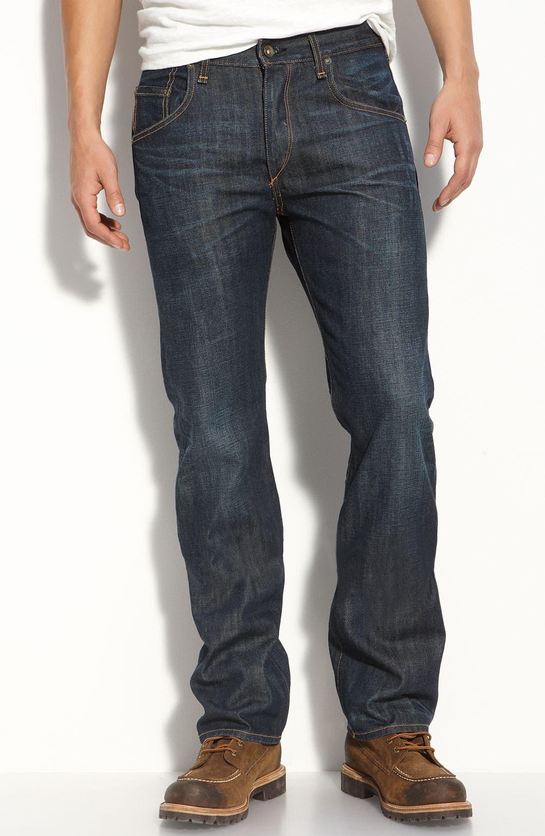Alternate Image 2  - rag & bone 'RB11X' Straight Leg Jeans (Dover Wash)