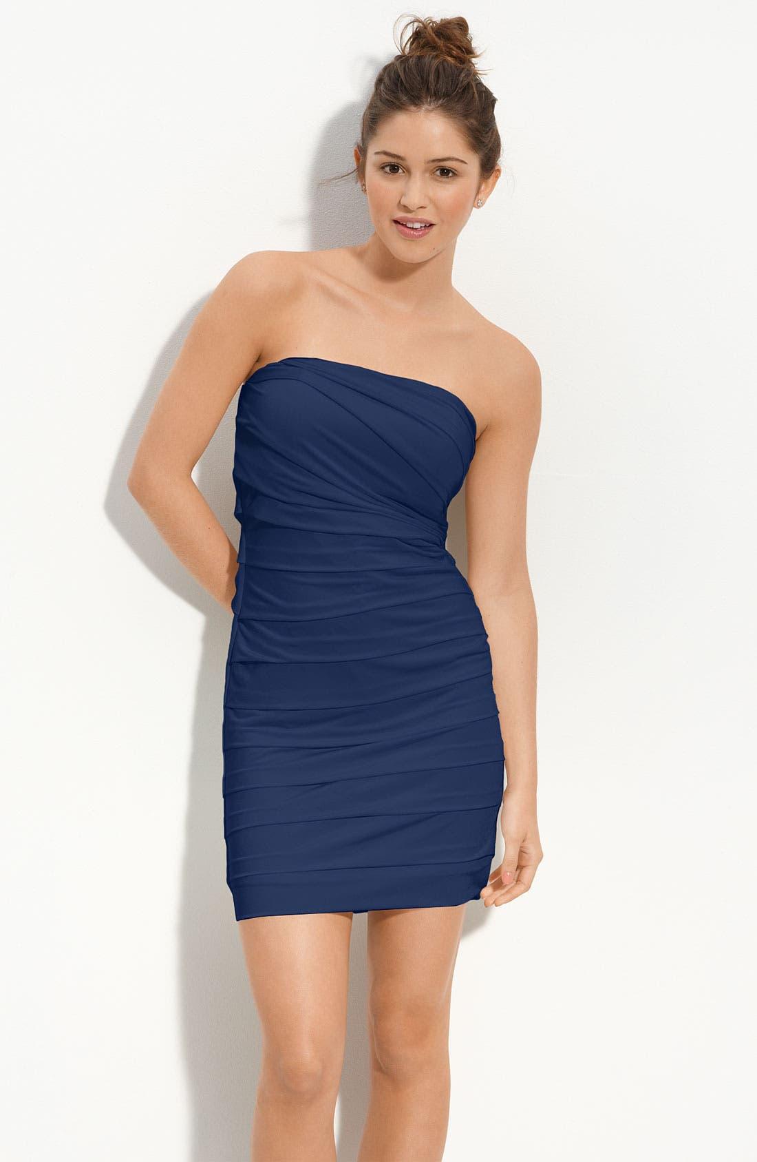 Speechless Pleated Strapless Dress (Juniors) | Nordstrom