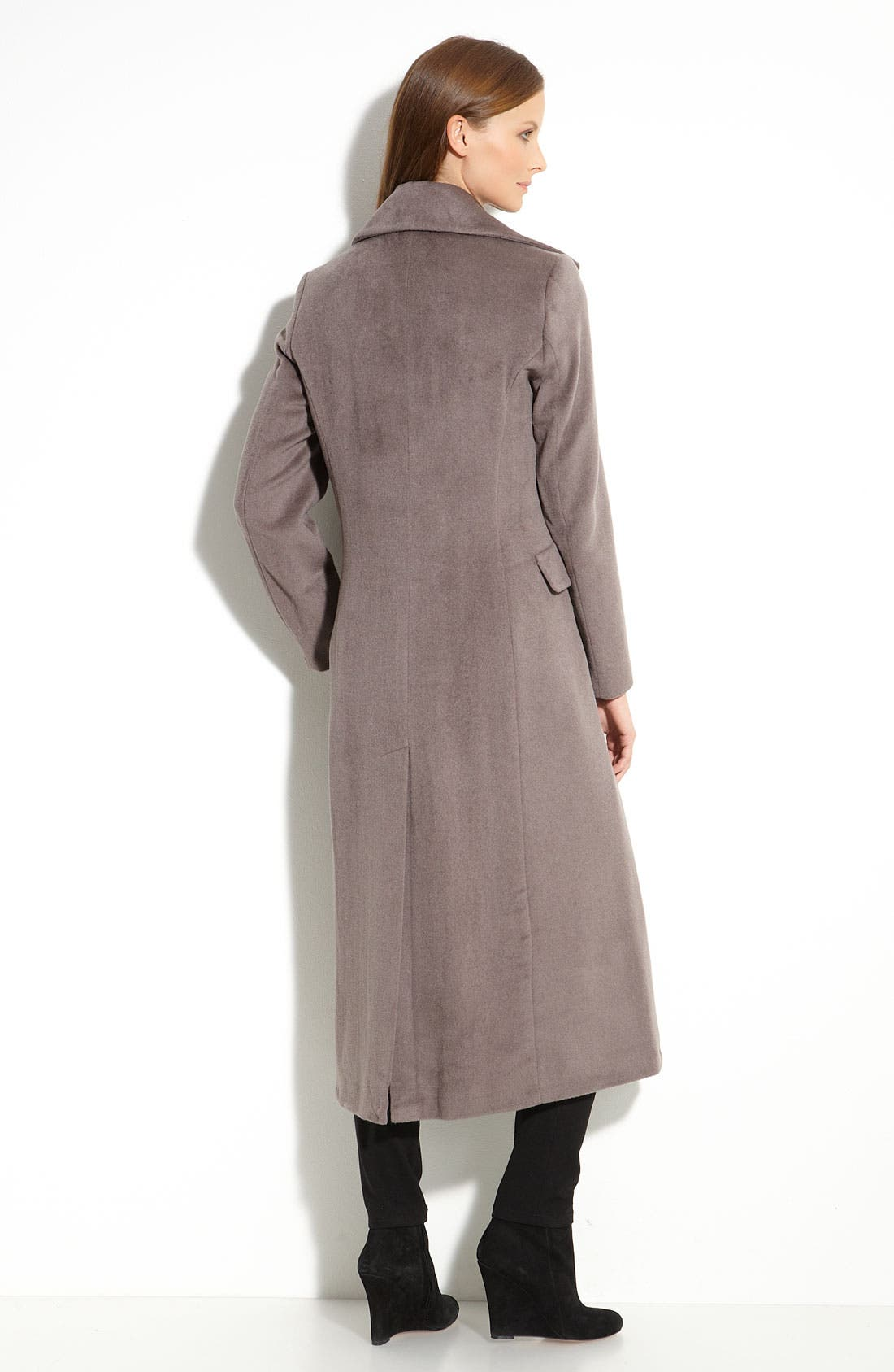 Alternate Image 2  - Calvin Klein Notch Collar Coat