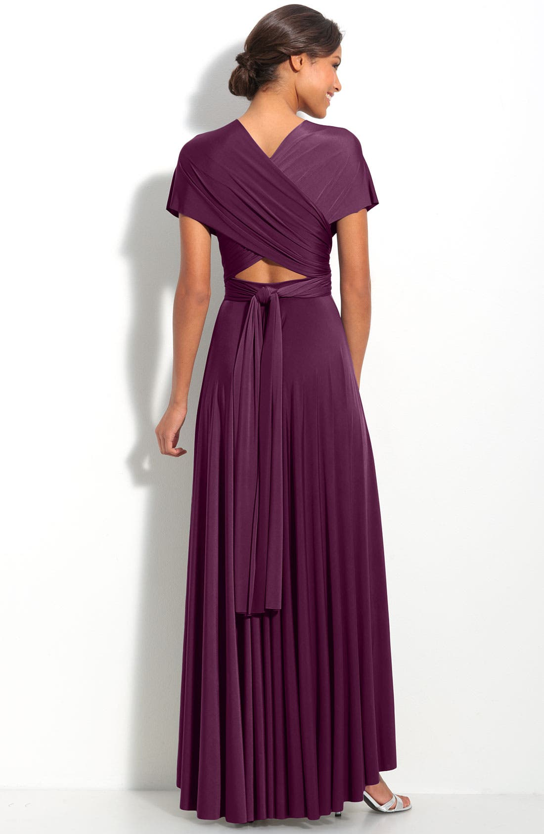 Alternate Image 4  - twobirds Convertible Jersey Gown (Regular & Plus)