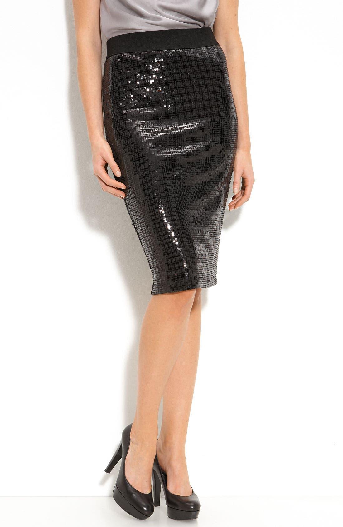 Alternate Image 1 Selected - Karen Kane Sequin Pencil Skirt