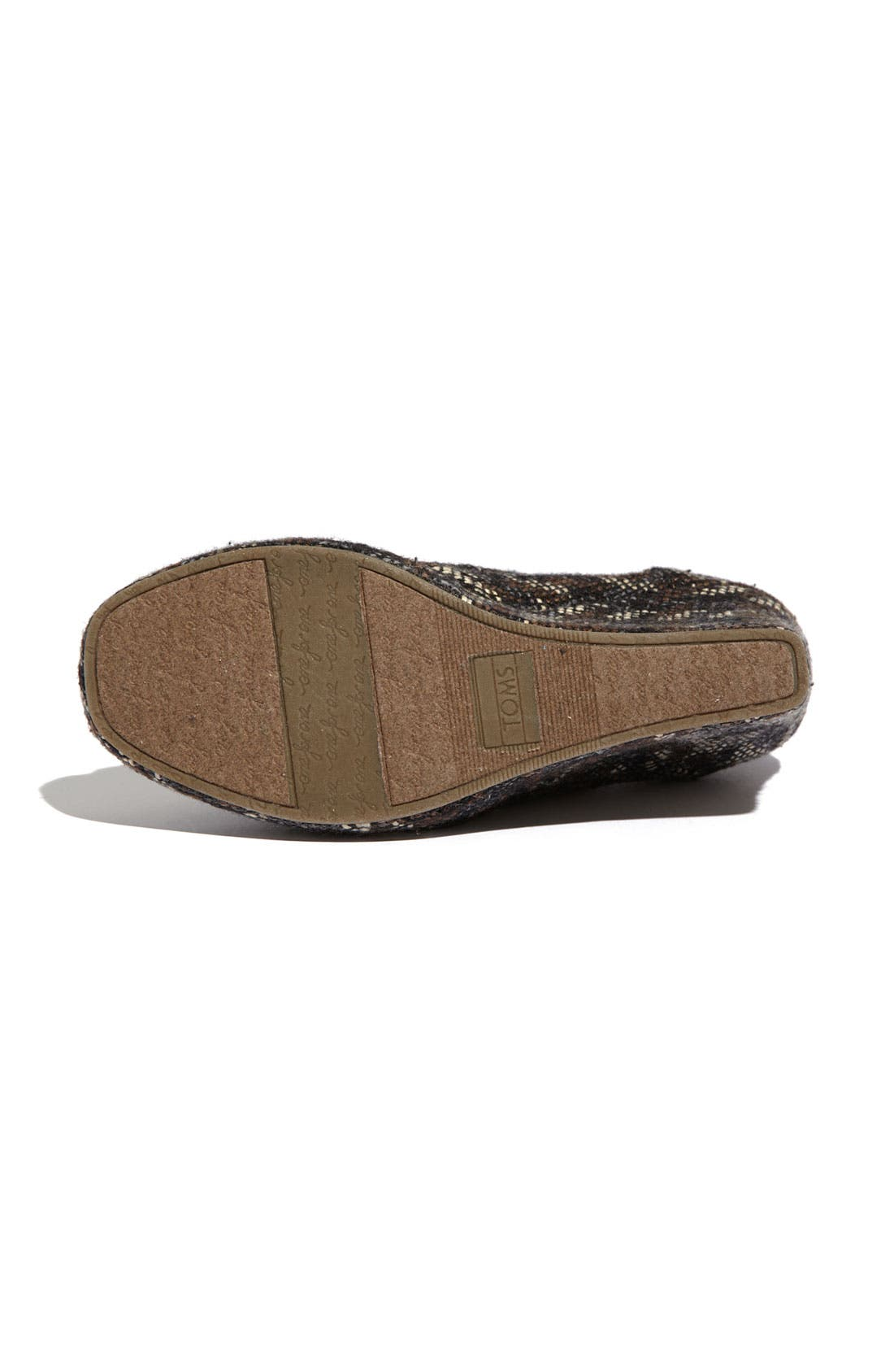Alternate Image 4  - TOMS Fabric Wedge (Women)