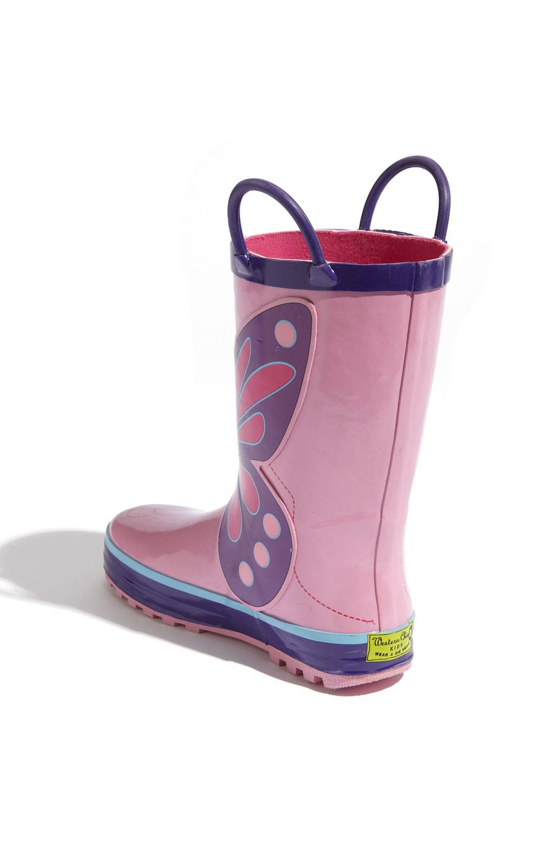 'Wings' Rain Boot,                             Alternate thumbnail 2, color,                             Pink