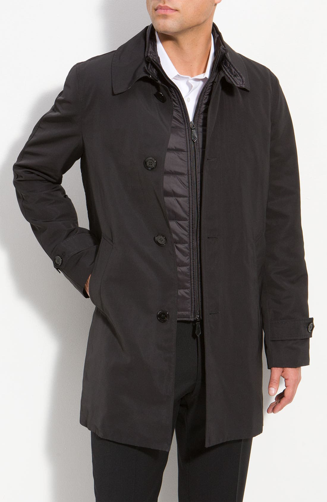 Alternate Image 1 Selected - Burberry London Layered Sport Vest & Overcoat