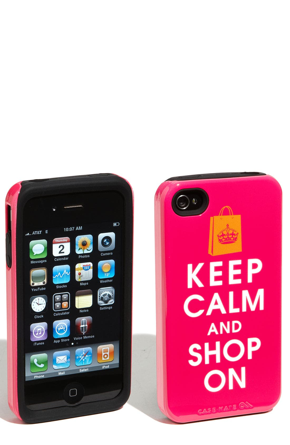 Alternate Image 1 Selected - Case-Mate® 'Keep Calm and Shop On' iPhone 4 & 4S Case