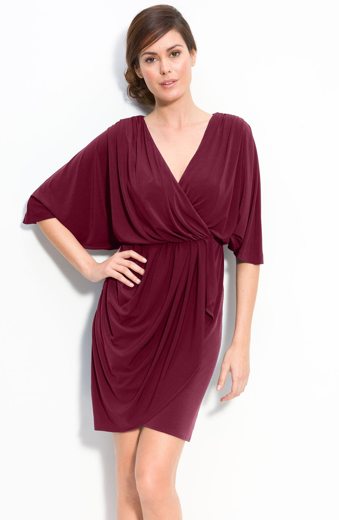 Main Image - Suzi Chin for Maggy Boutique Dolman Jersey Dress