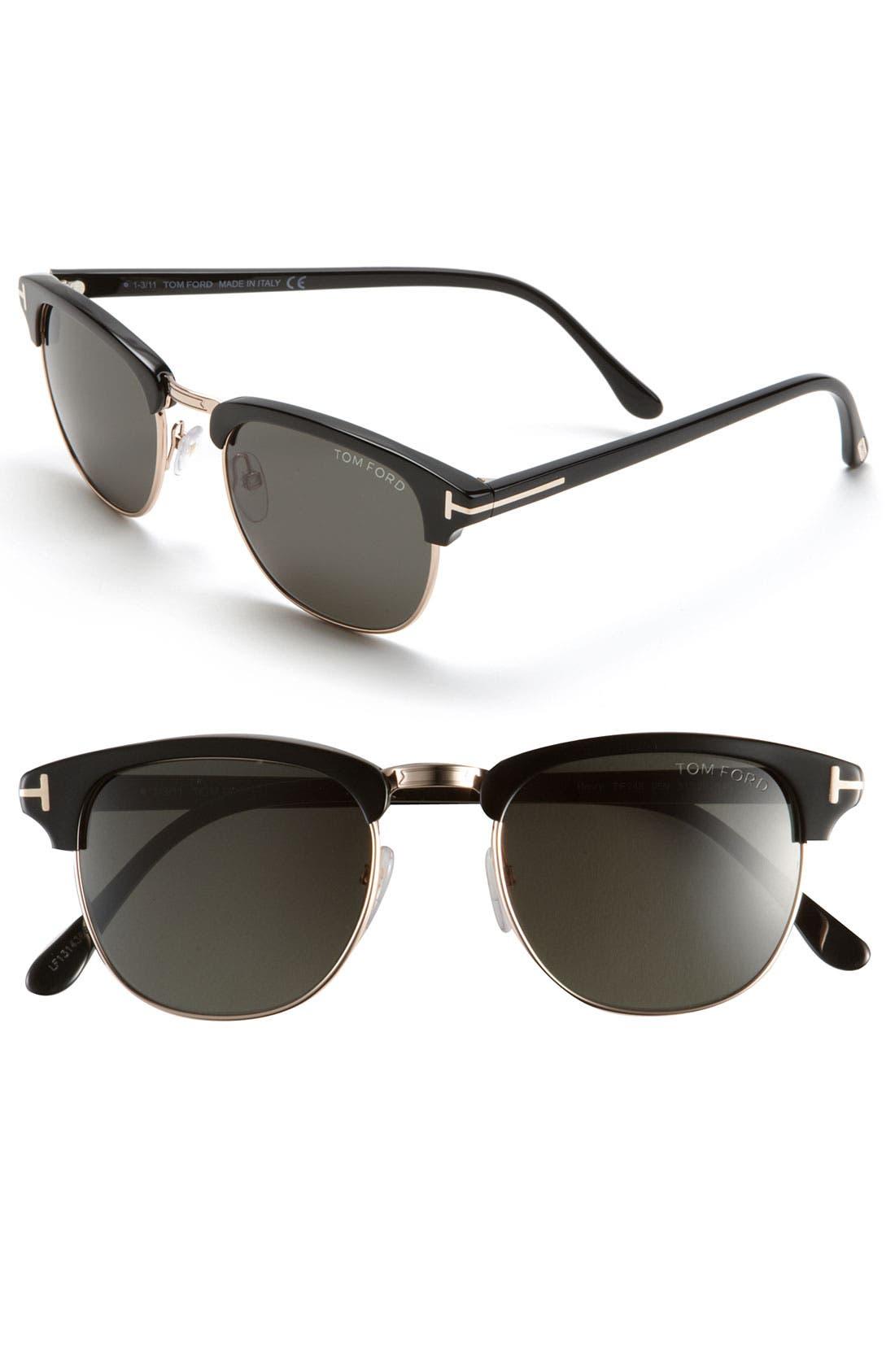 Main Image - Tom Ford 'Henry' 51mm Retro Sunglasses