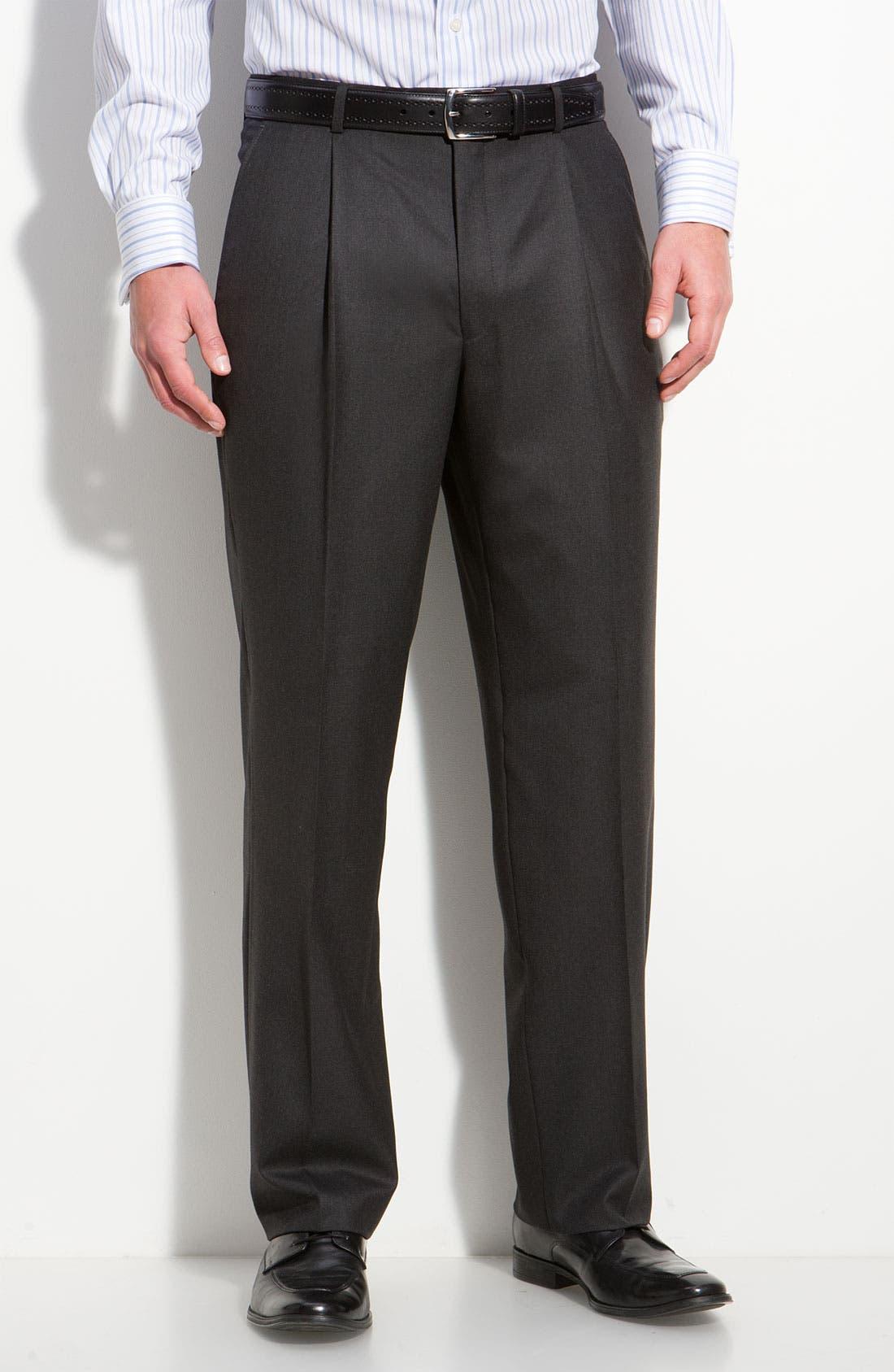 A Fit Wool Suit,                             Alternate thumbnail 4, color,                             Grey