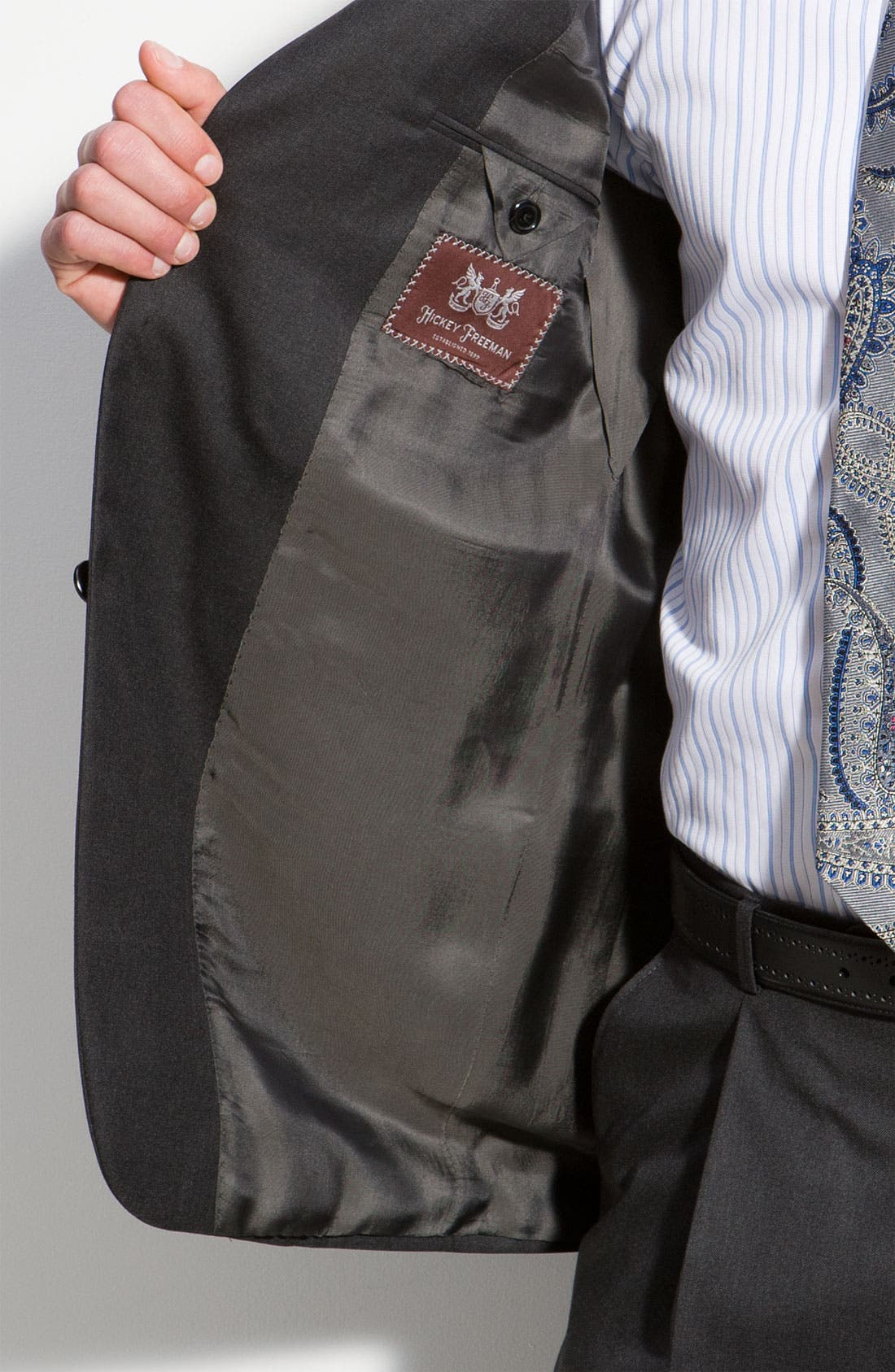 A Fit Wool Suit,                             Alternate thumbnail 3, color,                             Grey