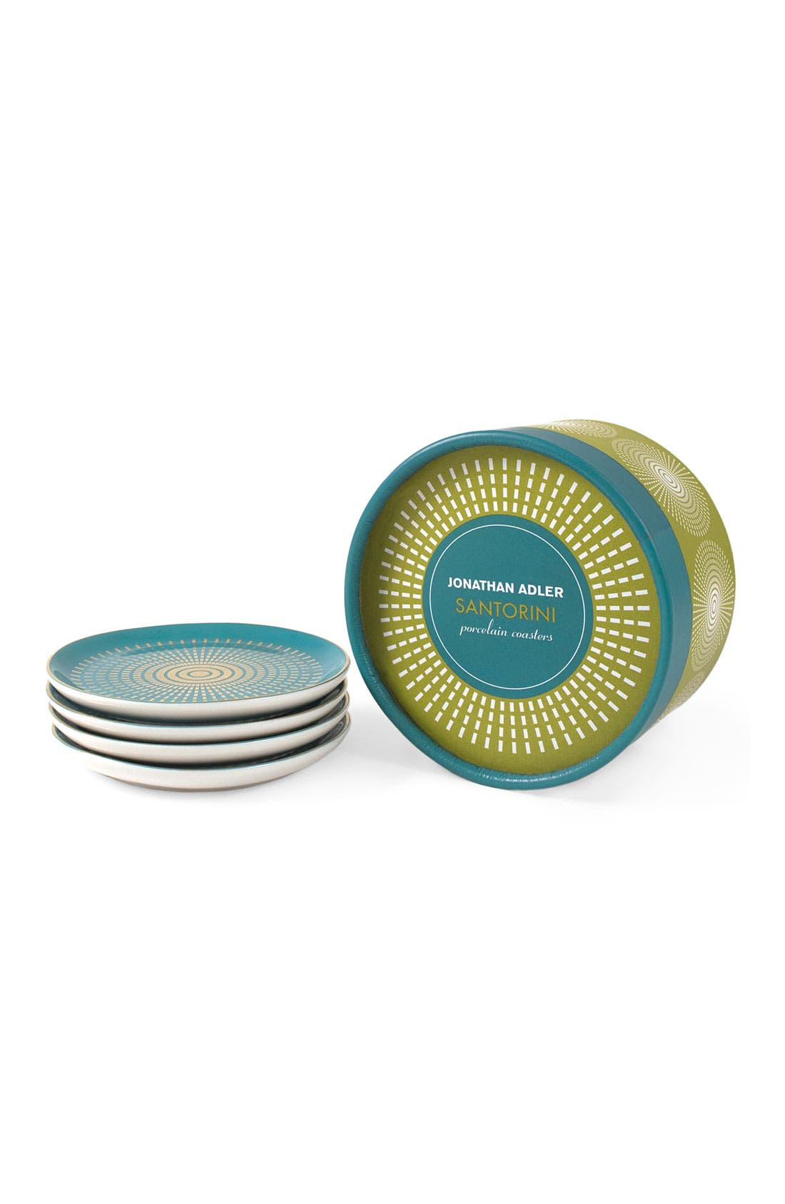 Main Image - Jonathan Adler 'Santorini' Porcelain Coasters (Set of 4)