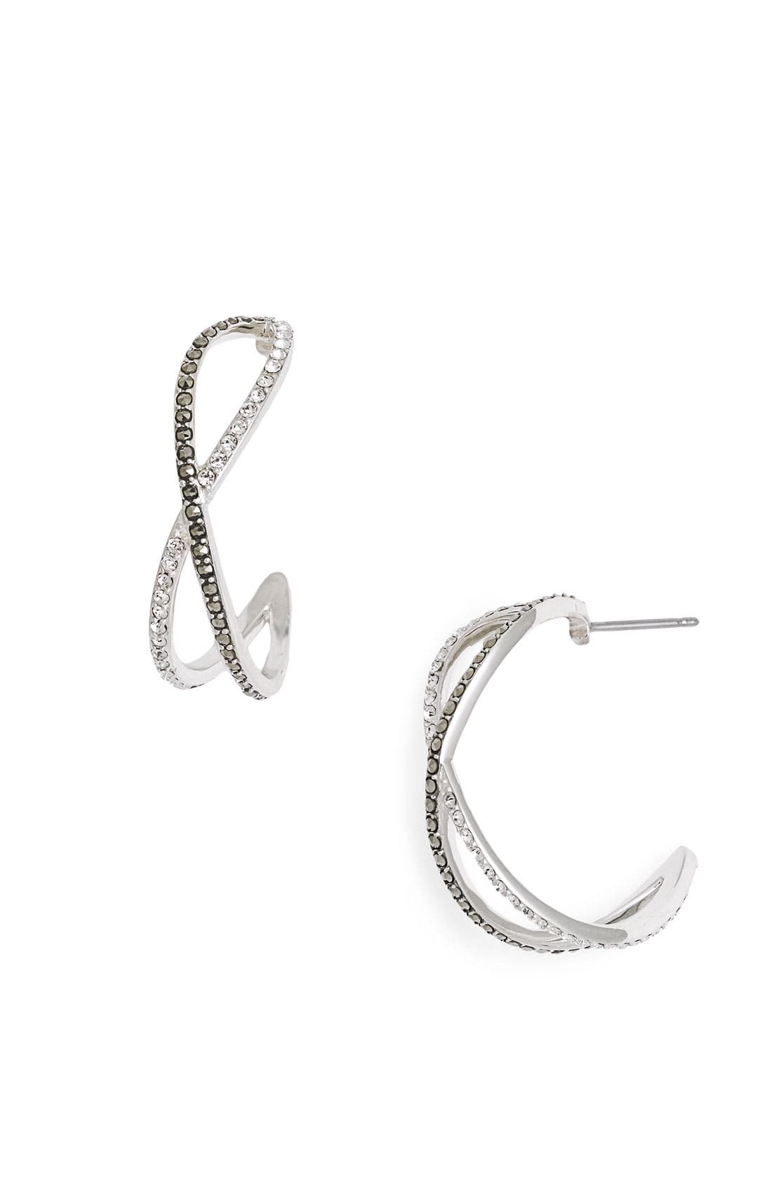Alternate Image 1 Selected - Judith Jack 'Licorice' Small Hoop Earrings