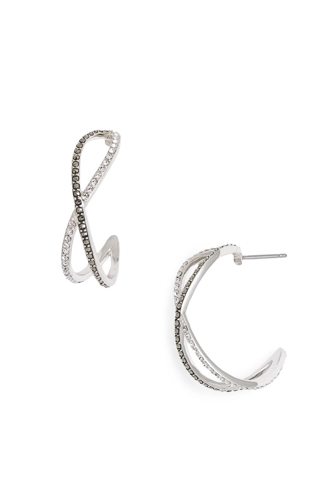Main Image - Judith Jack 'Licorice' Small Hoop Earrings