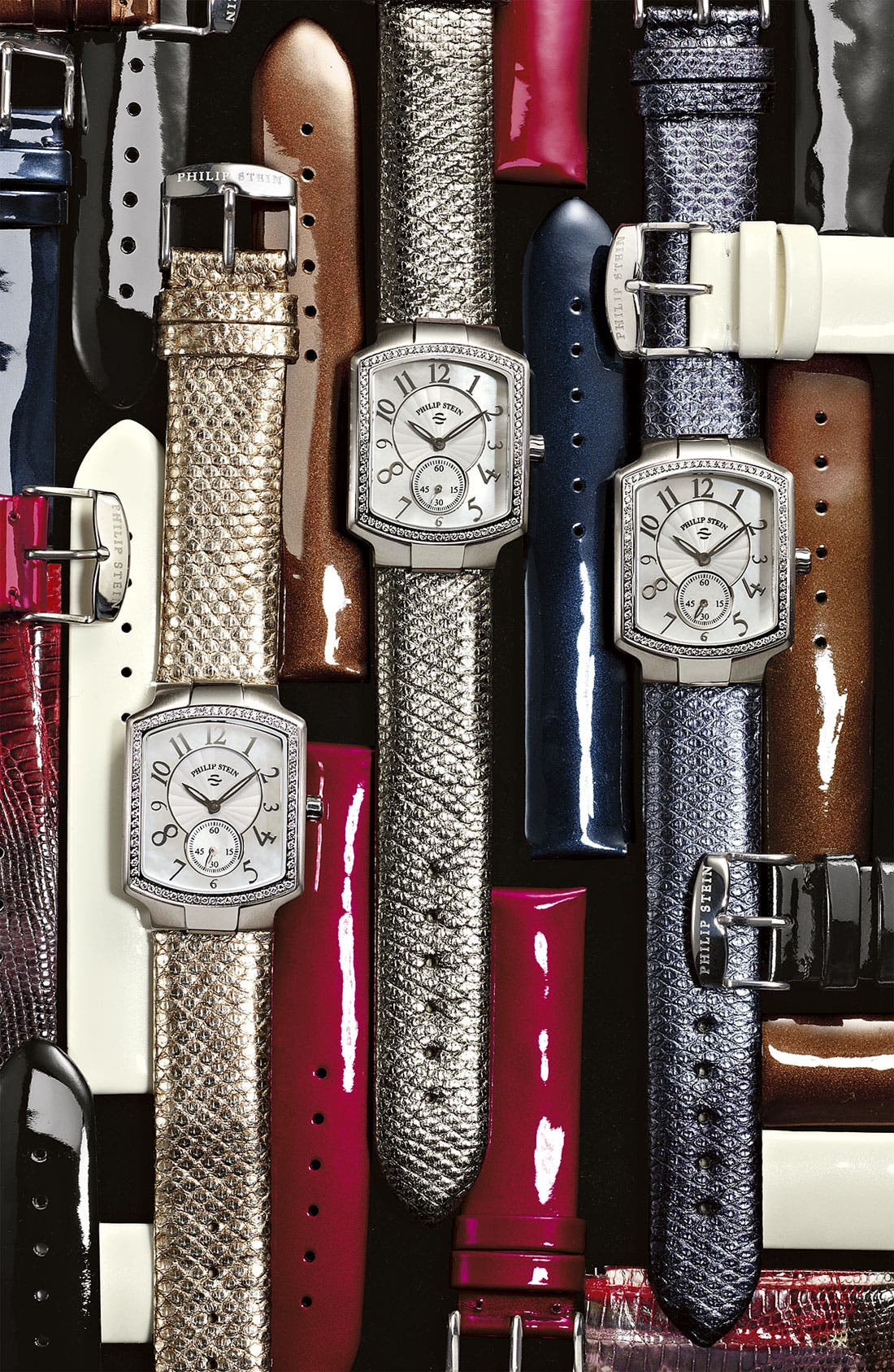 Alternate Image 2  - Philip Stein® 18mm Patent Leather Watch Strap