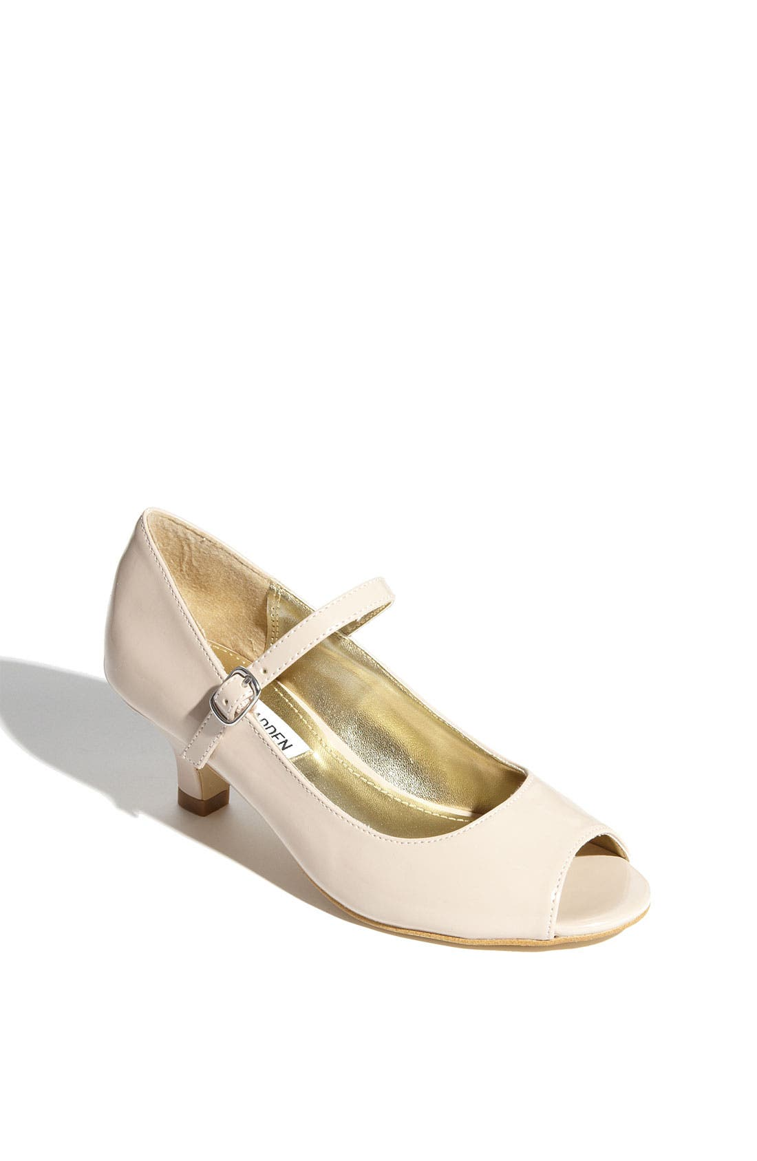 Alternate Image 1 Selected - Steve Madden 'Babyy' Peep Toe Pump (Little Kid & Big Kid)