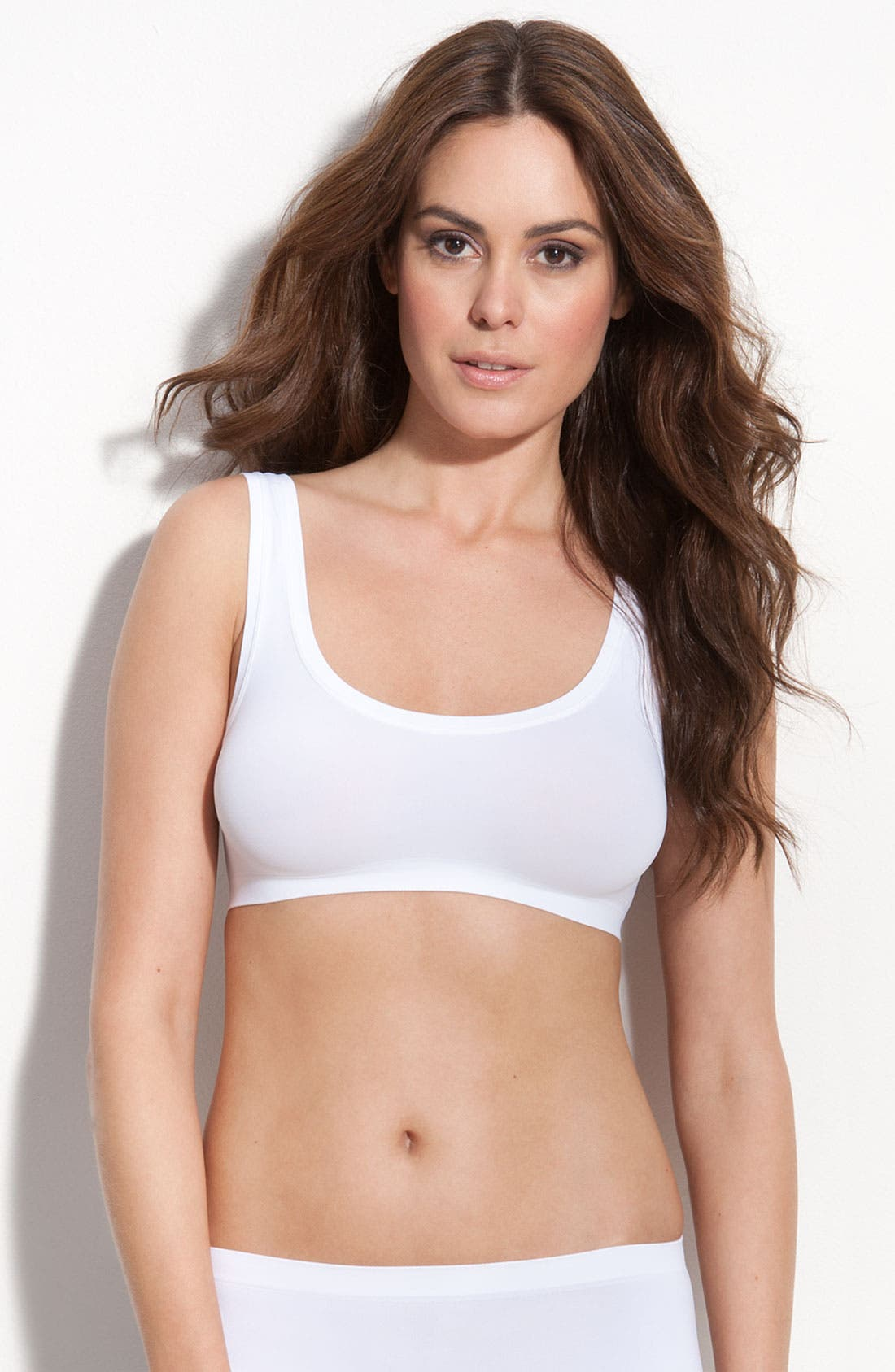 'Touch Feeling' Crop Top,                         Main,                         color, White