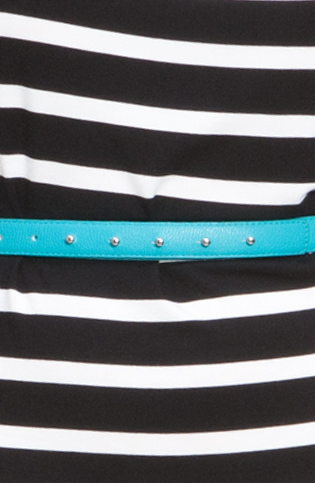 Alternate Image 4  - Calvin Klein Belted Cap Sleeve Jersey Sheath Dress