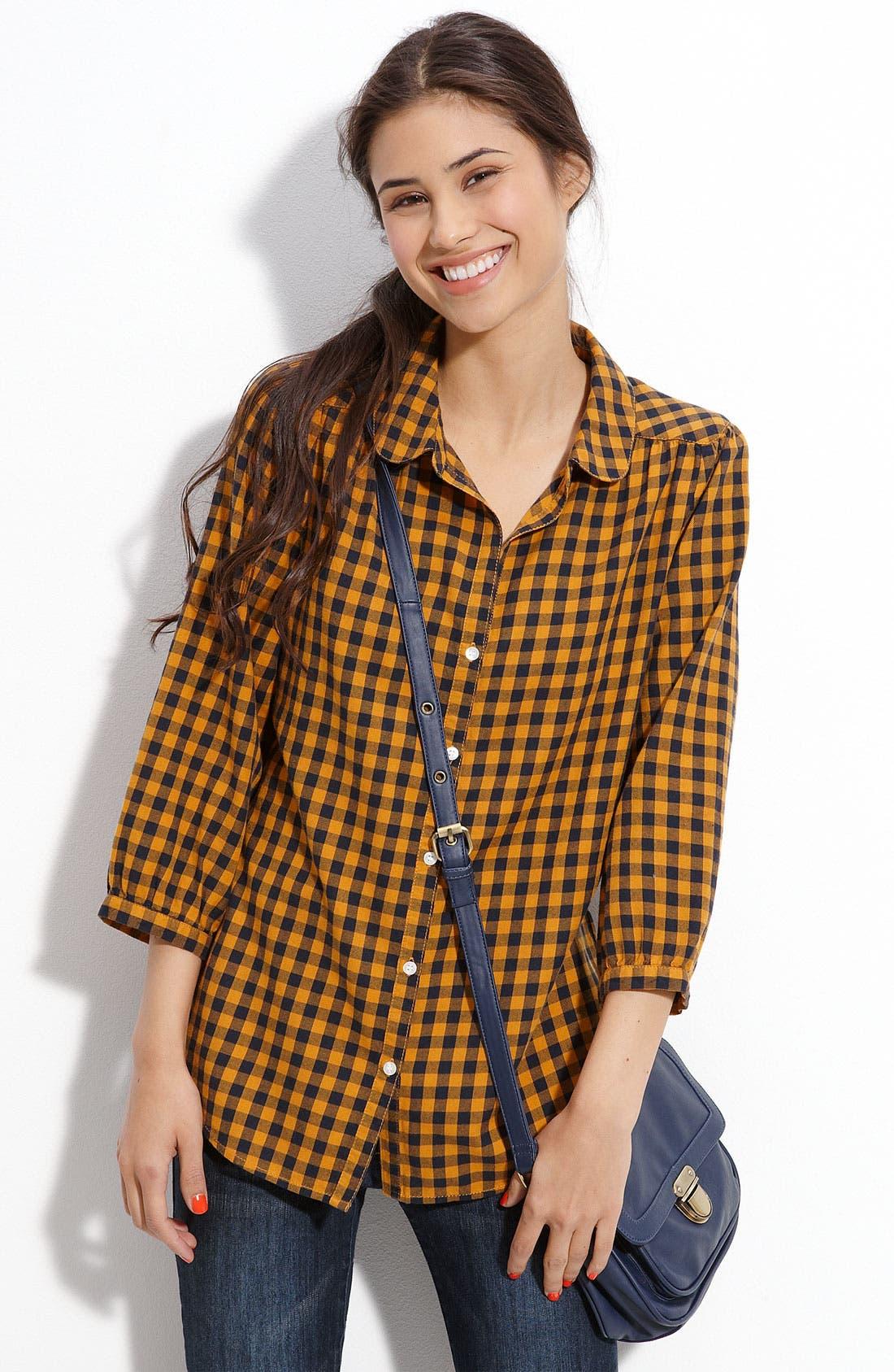 Alternate Image 1 Selected - Rubbish® Peter Pan Collar Shirt (Juniors)
