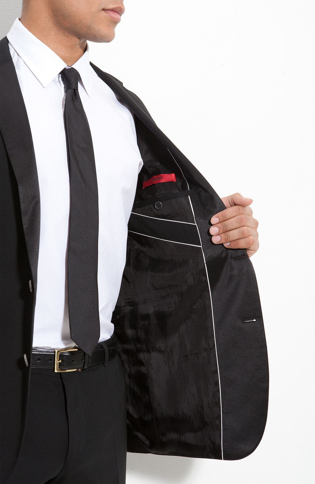 Alternate Image 6  - HUGO 'Aikin Hollo' Trim Fit Wool Tuxedo