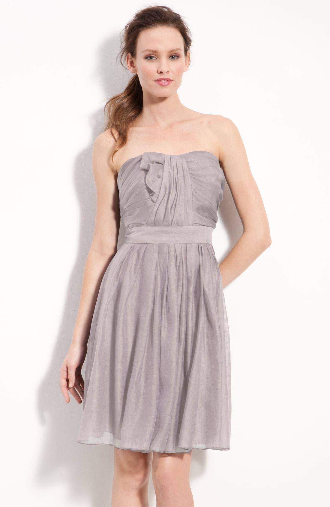 Main Image - Suzi Chin for Maggy Boutique Strapless Draped Organza Dress