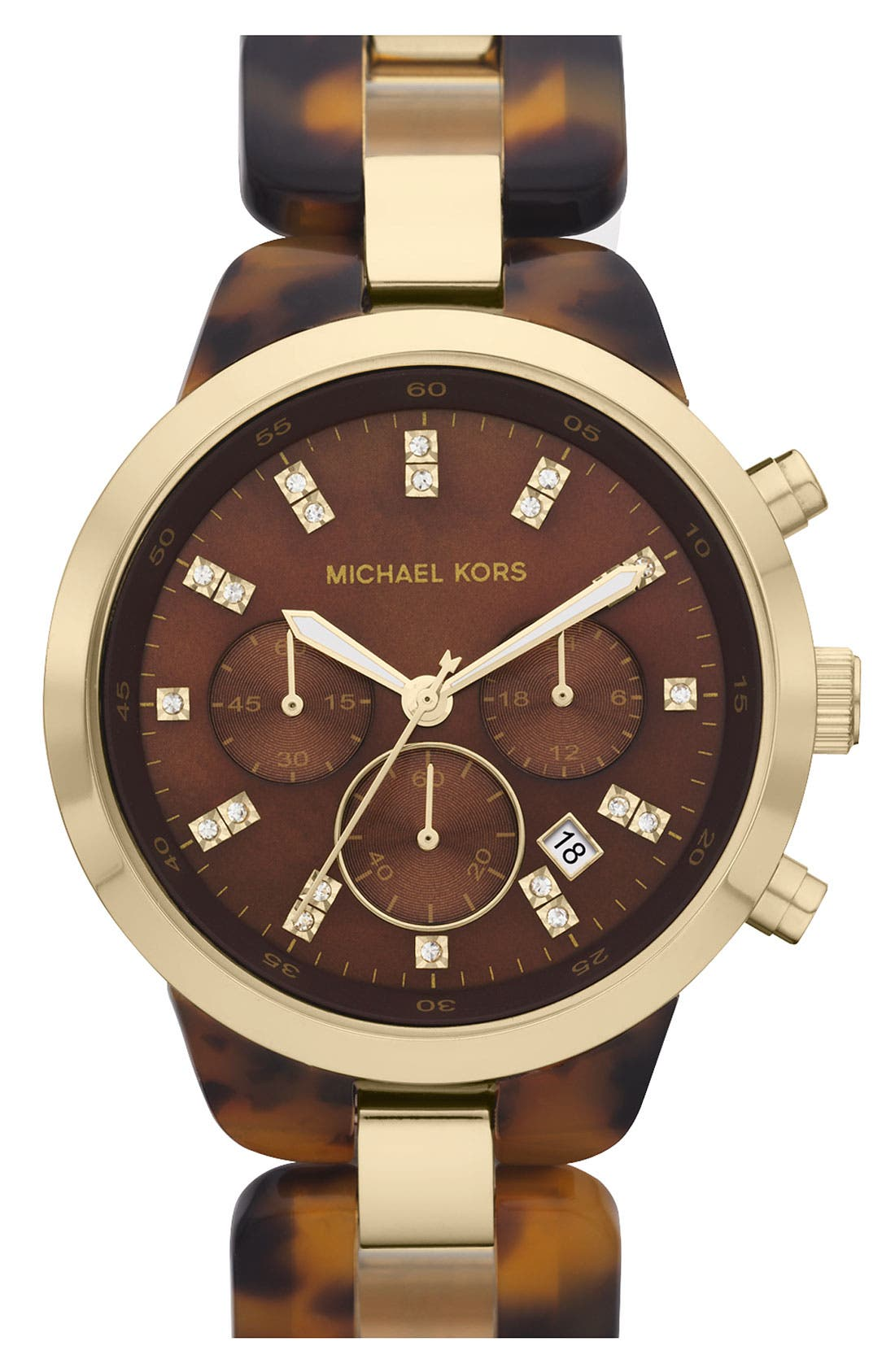 Alternate Image 1 Selected - Michael Kors 'Showstopper' Chronograph Bracelet Watch
