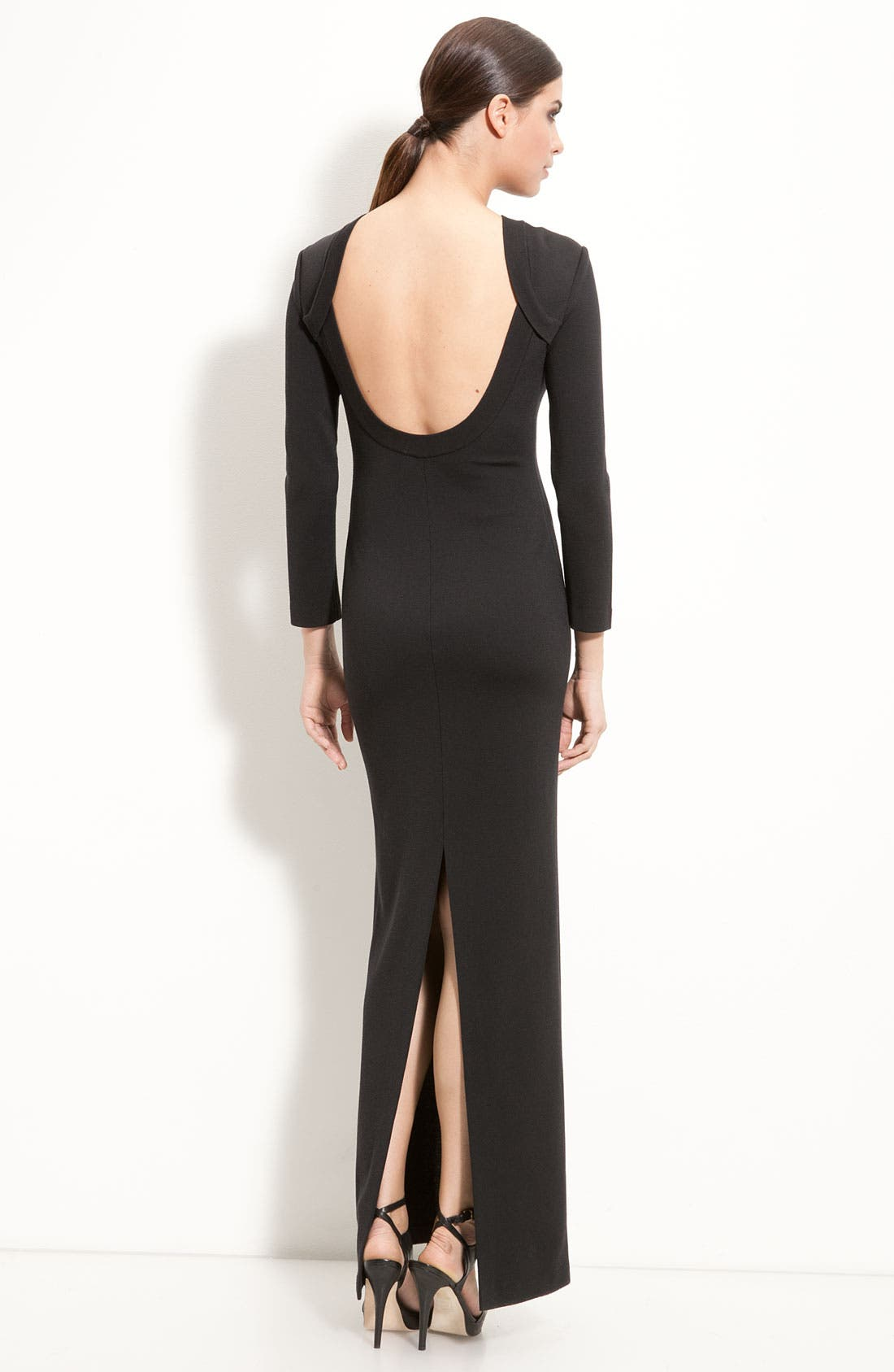 Alternate Image 2  - St. John Collection Scoop Back Milano Knit Gown