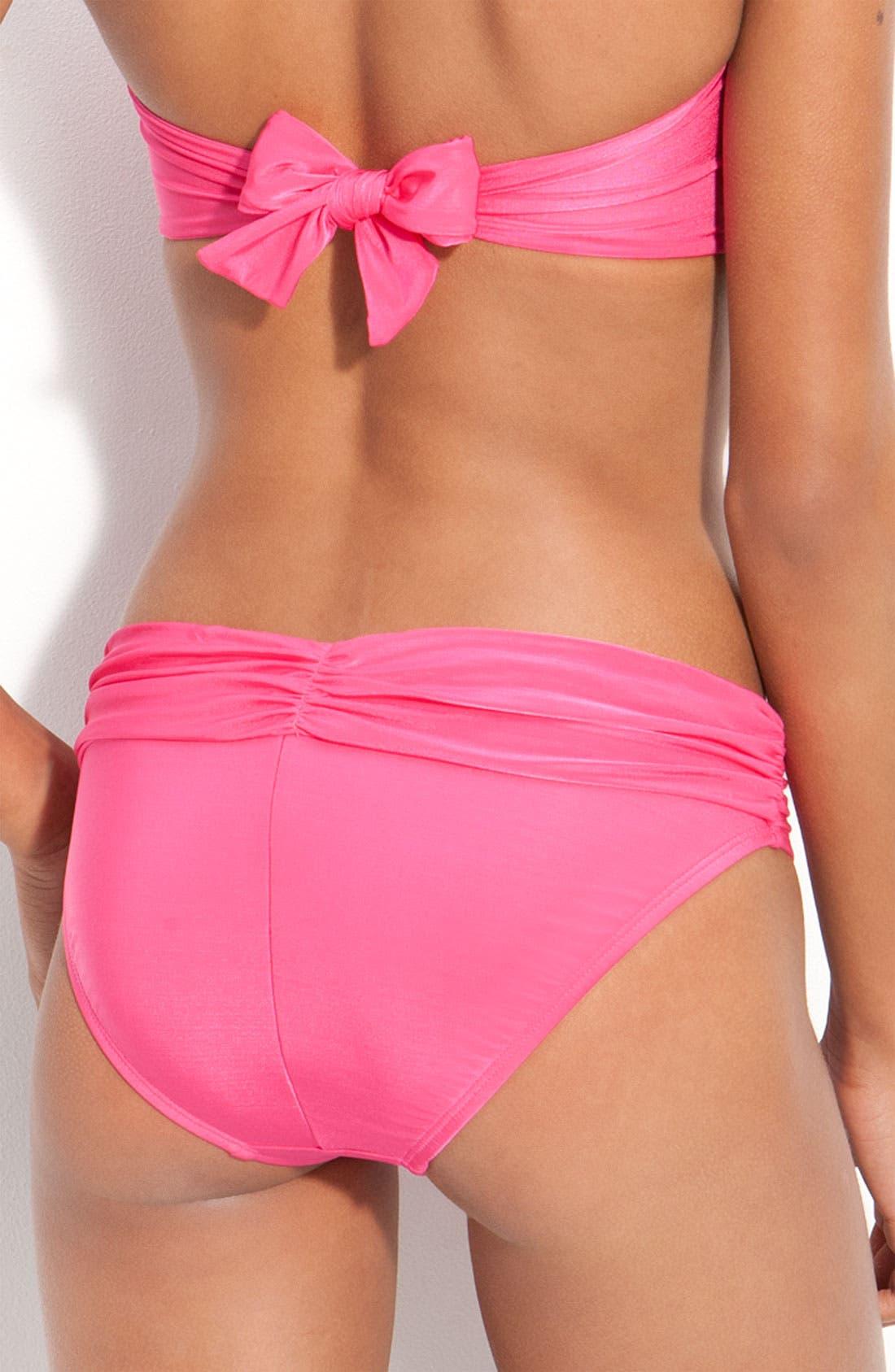 Alternate Image 2  - La Blanca 'Glimmer Girl' Hipster Bikini Bottoms