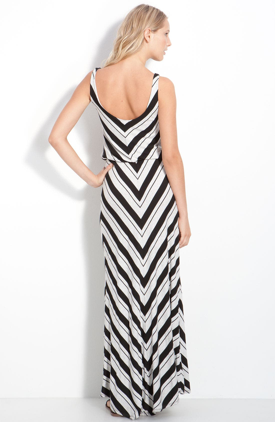 Alternate Image 2  - Ella Moss 'Ringo' Chevron Blouson Maxi Tank Dress