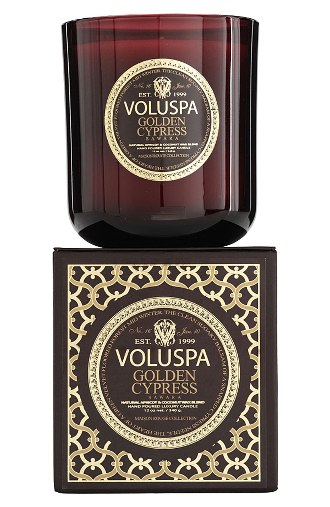 Main Image - Voluspa 'Maison Rouge - Golden Cypress Sawara' Scented Candle