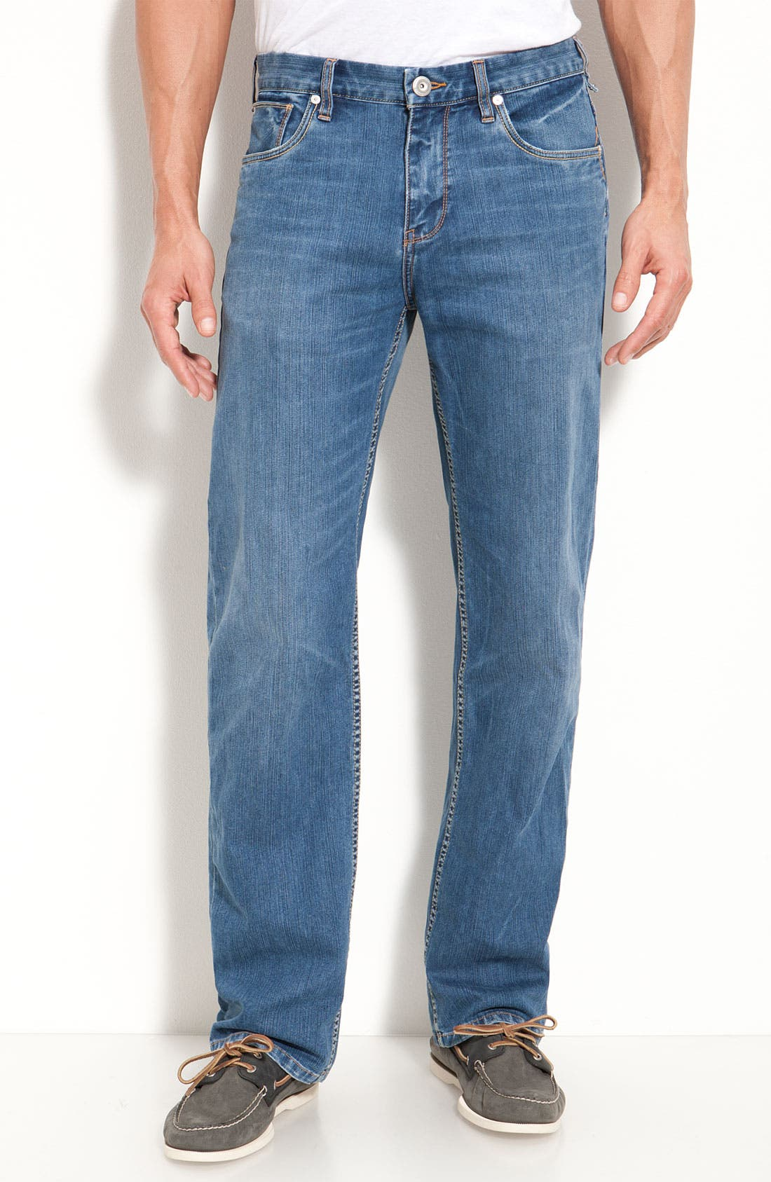 Main Image - Tommy Bahama Denim 'Calo' Standard Jeans (Medium Worn)(Big & Tall)