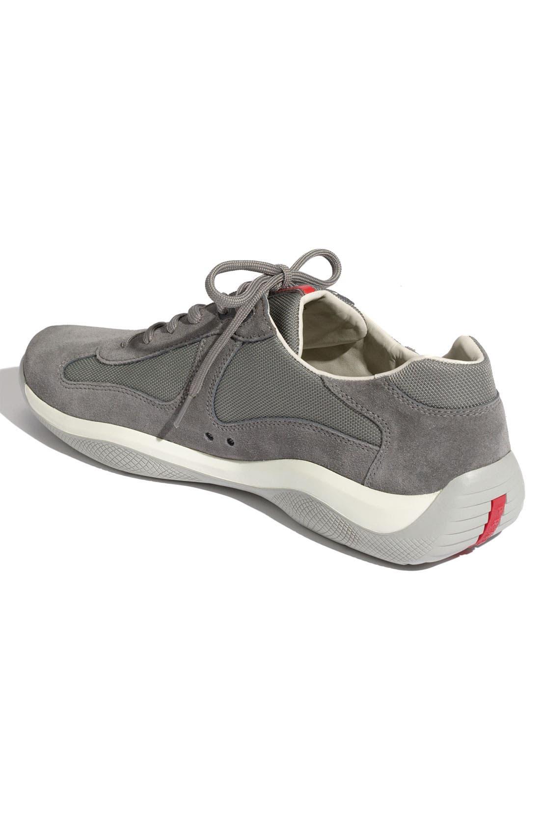 Alternate Image 2  - Prada 'Punta Ala' Suede Sneaker (Men)