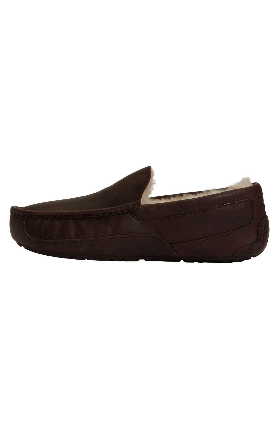 Alternate Image 2  - UGG® Ascot Leather Slipper (Men)