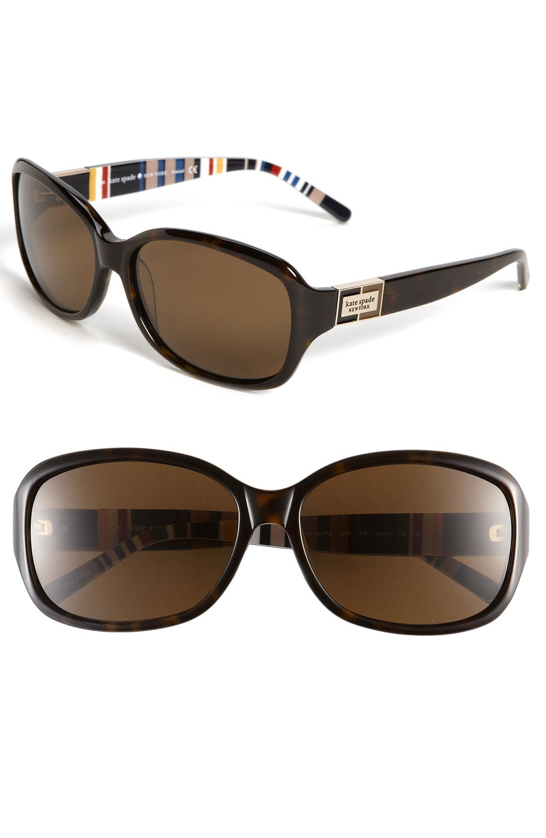Alternate Image 1 Selected - kate spade new york annika/p/s 56mm polarized sunglasses