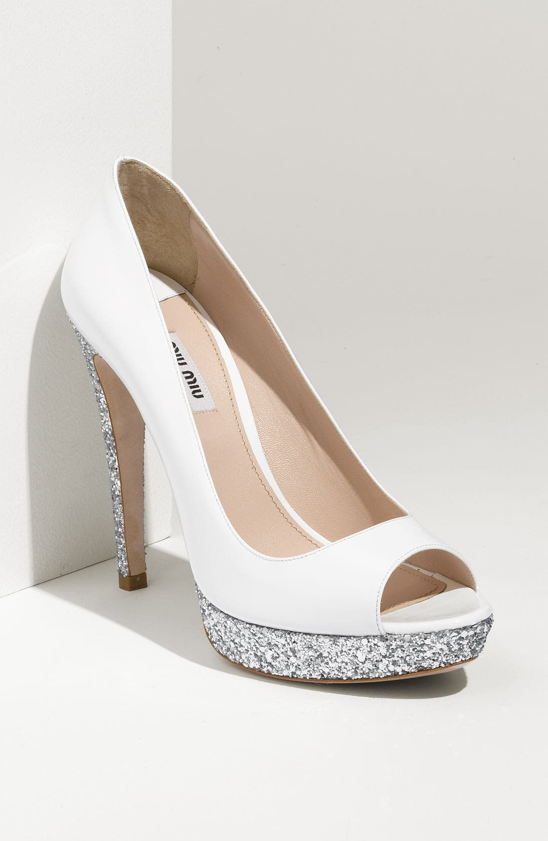 Alternate Image 1 Selected - Miu Miu Glitter Platform Pump