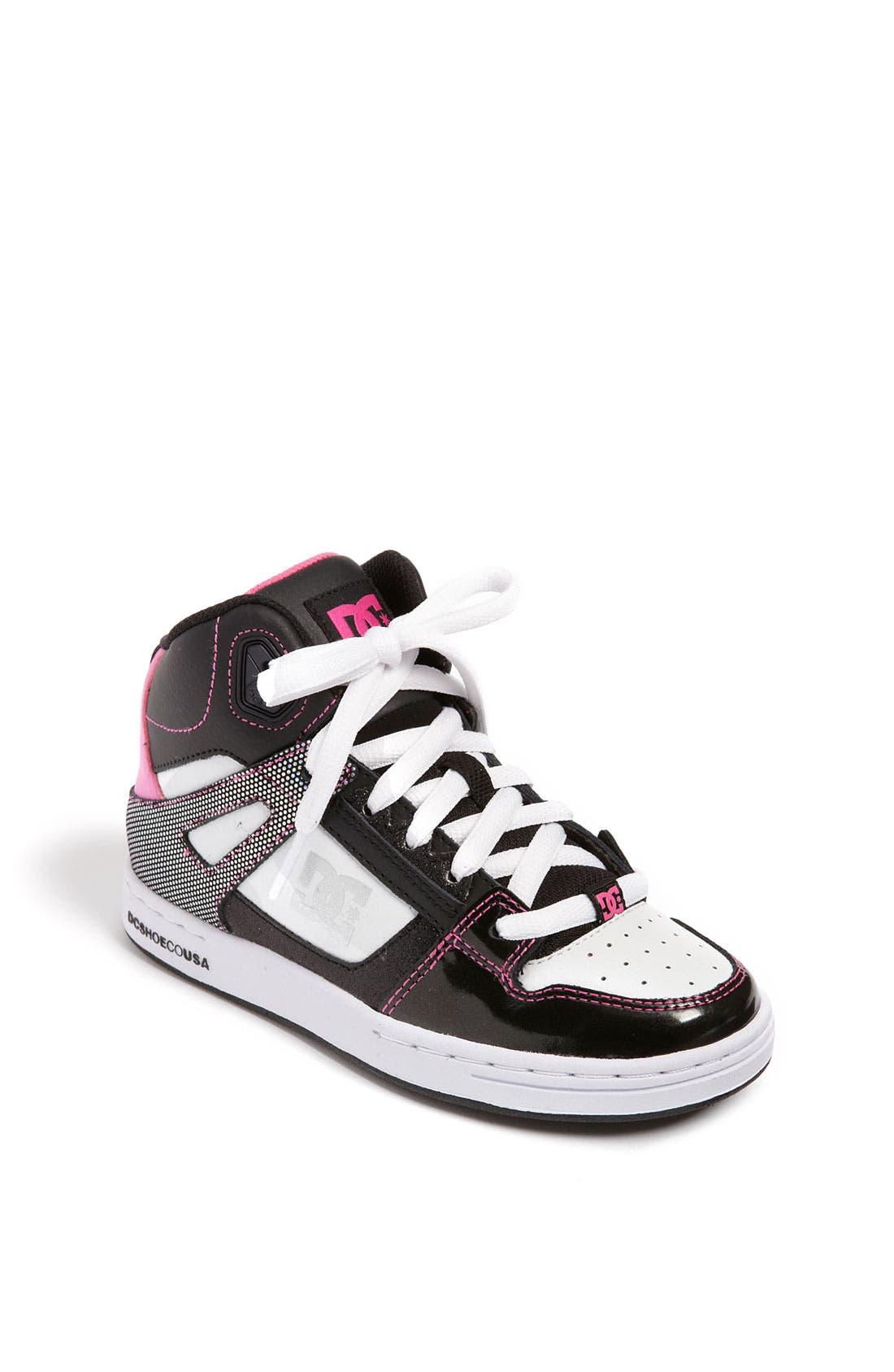 Alternate Image 1 Selected - DC Shoes 'Rebound' Skate Shoe (Little Kid & Big Kid)
