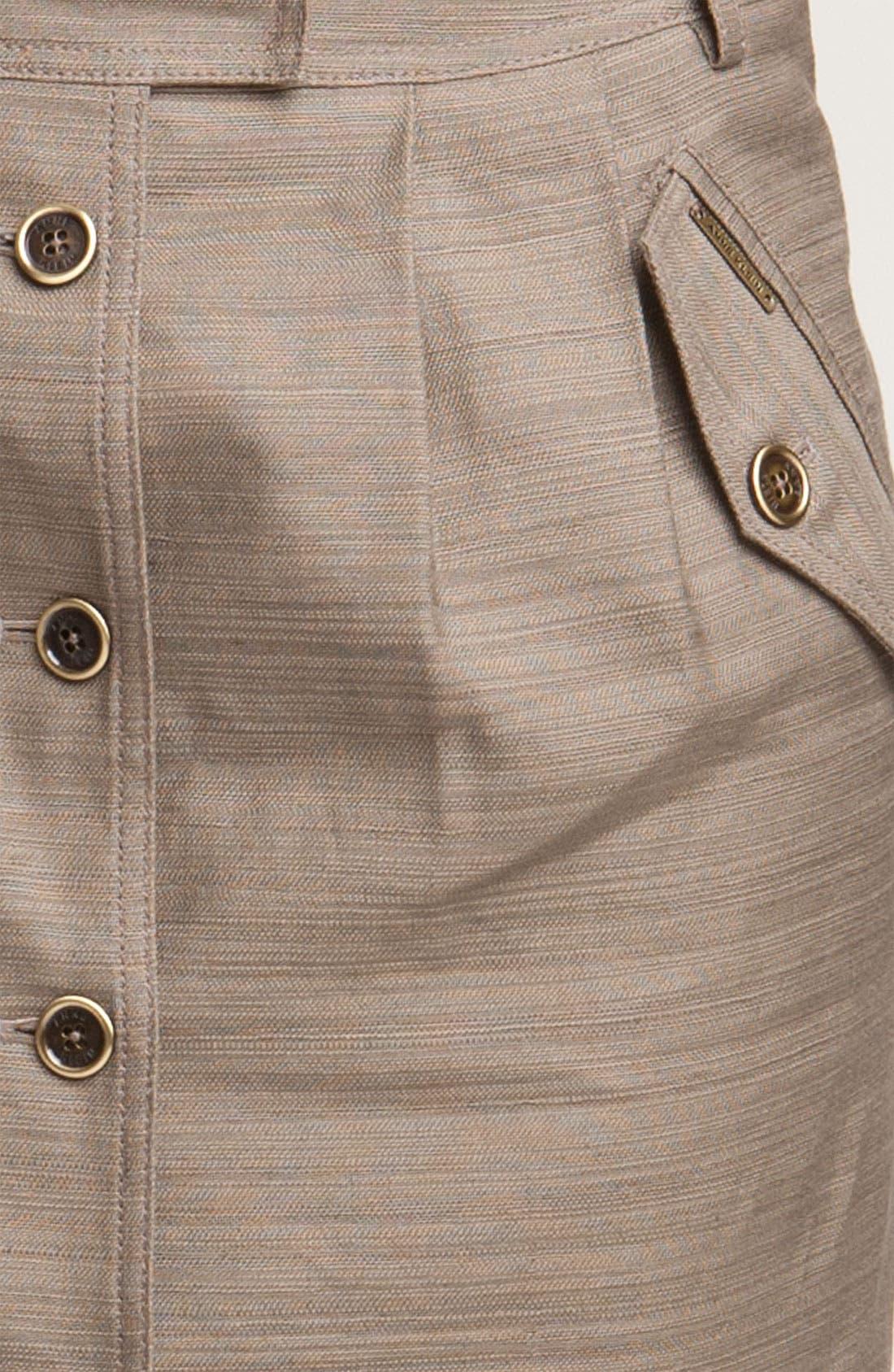 Alternate Image 3  - Anne Klein Button Front Slub Weave Skirt