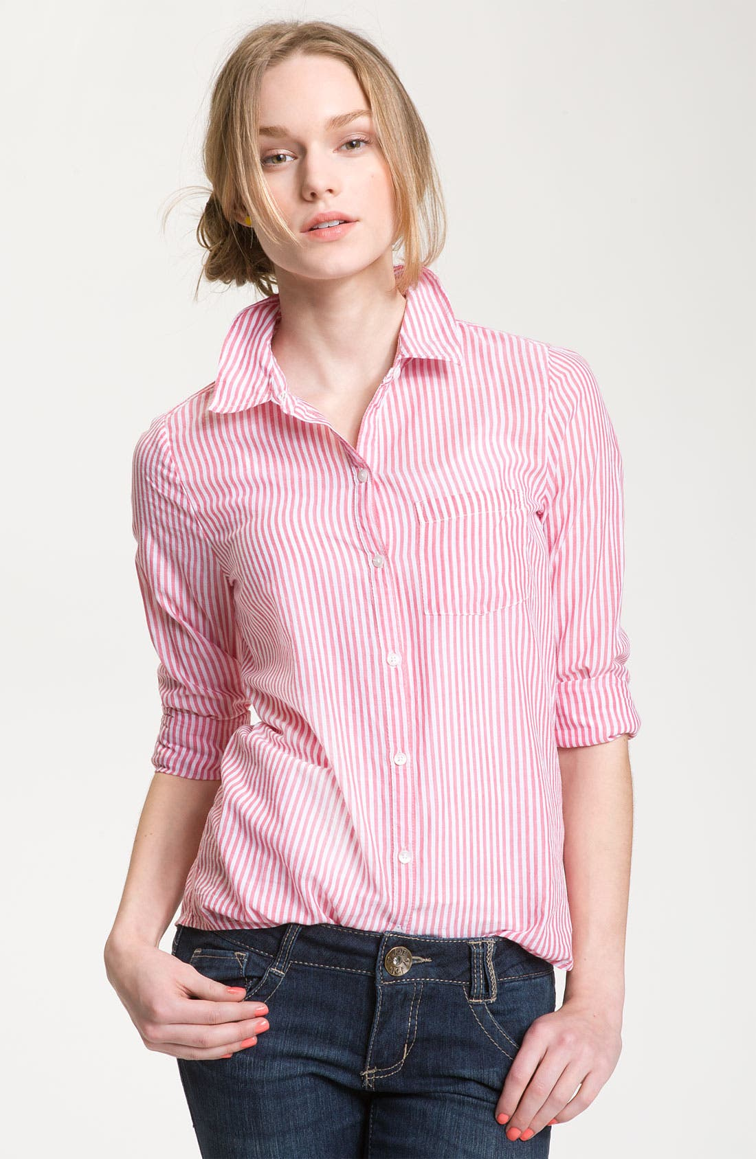 Alternate Image 1 Selected - BP. 'Preppy' Cotton Shirt (Juniors)