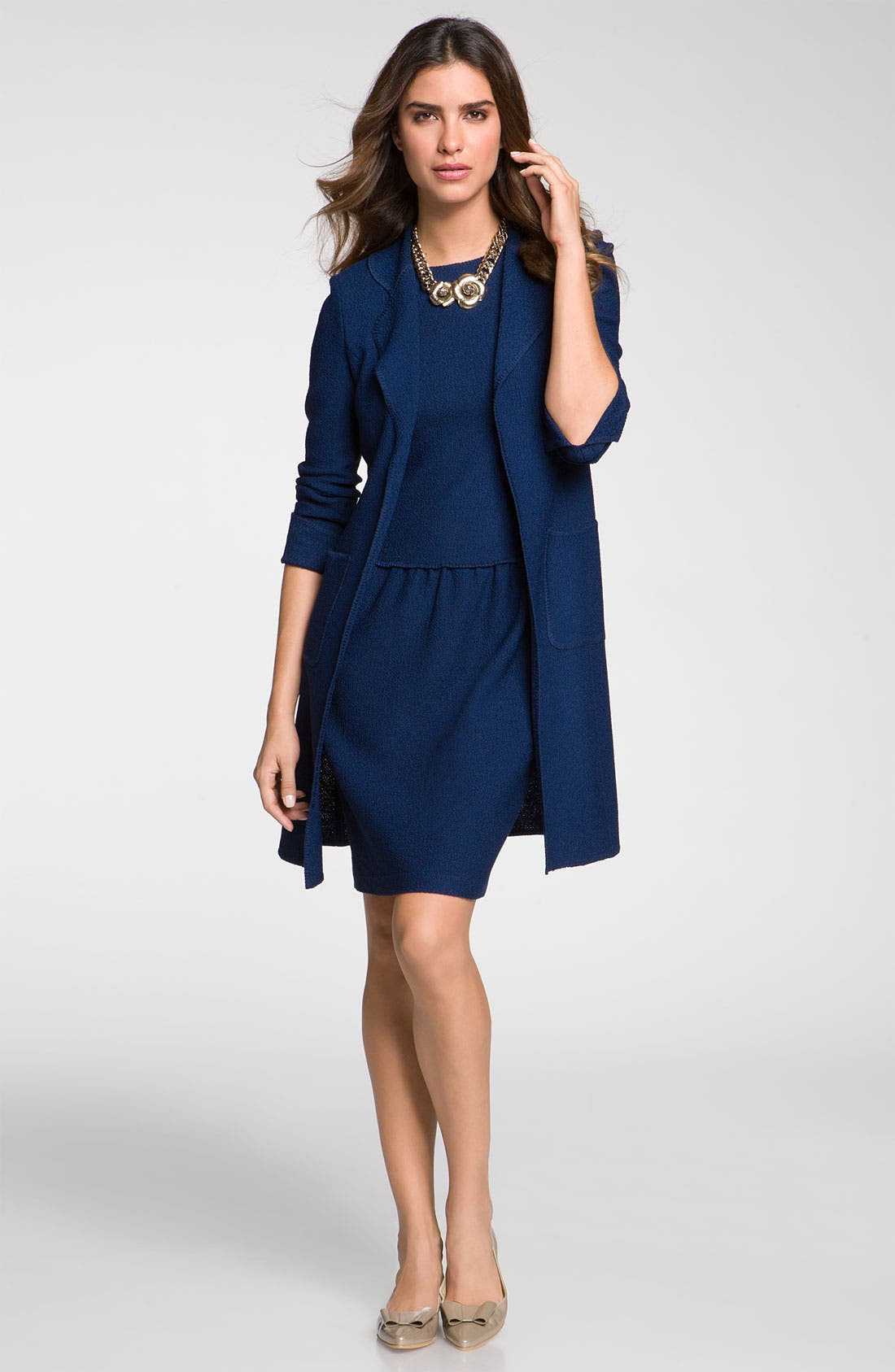 Alternate Image 1 Selected - St. John Collection Topper & Dress