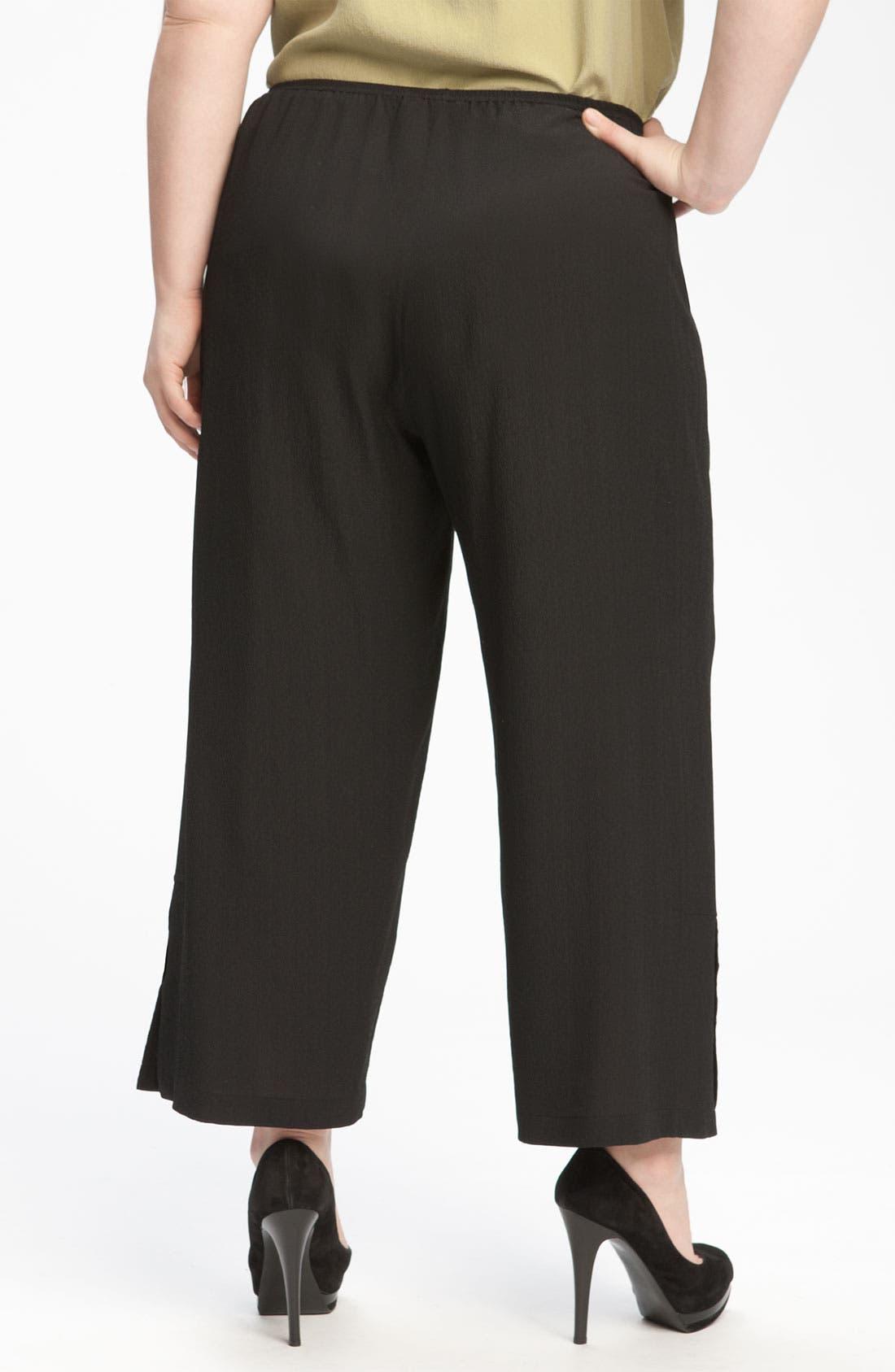 Alternate Image 4  - Citron Crop Silk Pants (Plus)