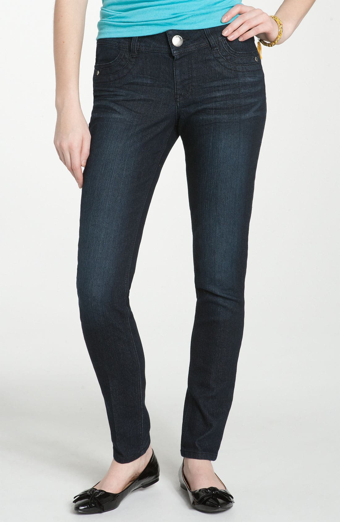 Alternate Image 2  - Jolt 'Pick Me Up' Skinny Jeans (Juniors)