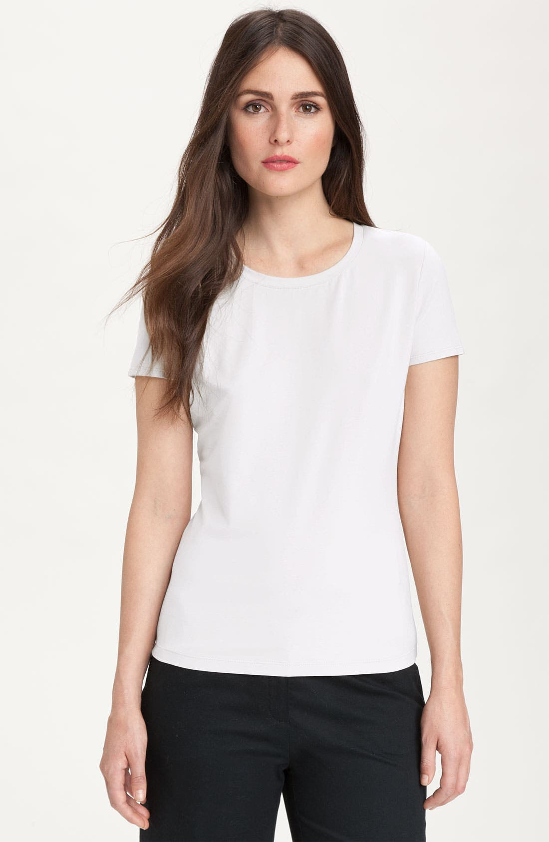 Main Image - Lafayette 148 New York 'City' Stretch Jersey Tee