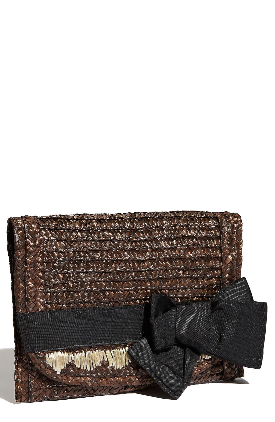Main Image - Felix Rey 'Miss Priss' Basket Weave Straw Clutch