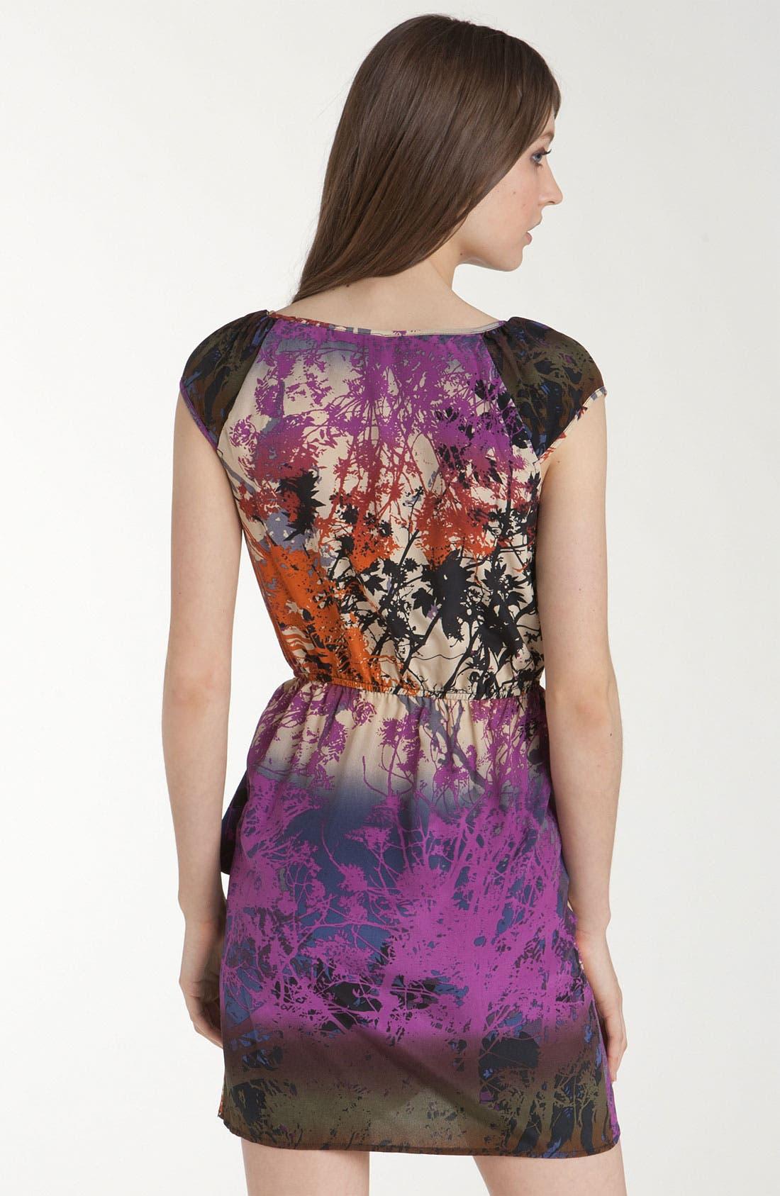 Alternate Image 2  - Charlie Jade 'Marie' Print Faux Wrap Dress