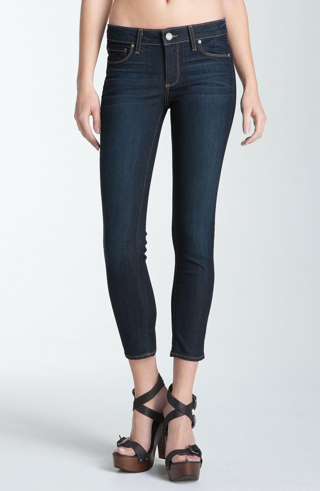 Main Image - Paige Denim 'Kylie' Crop Skinny Jeans (Stream)